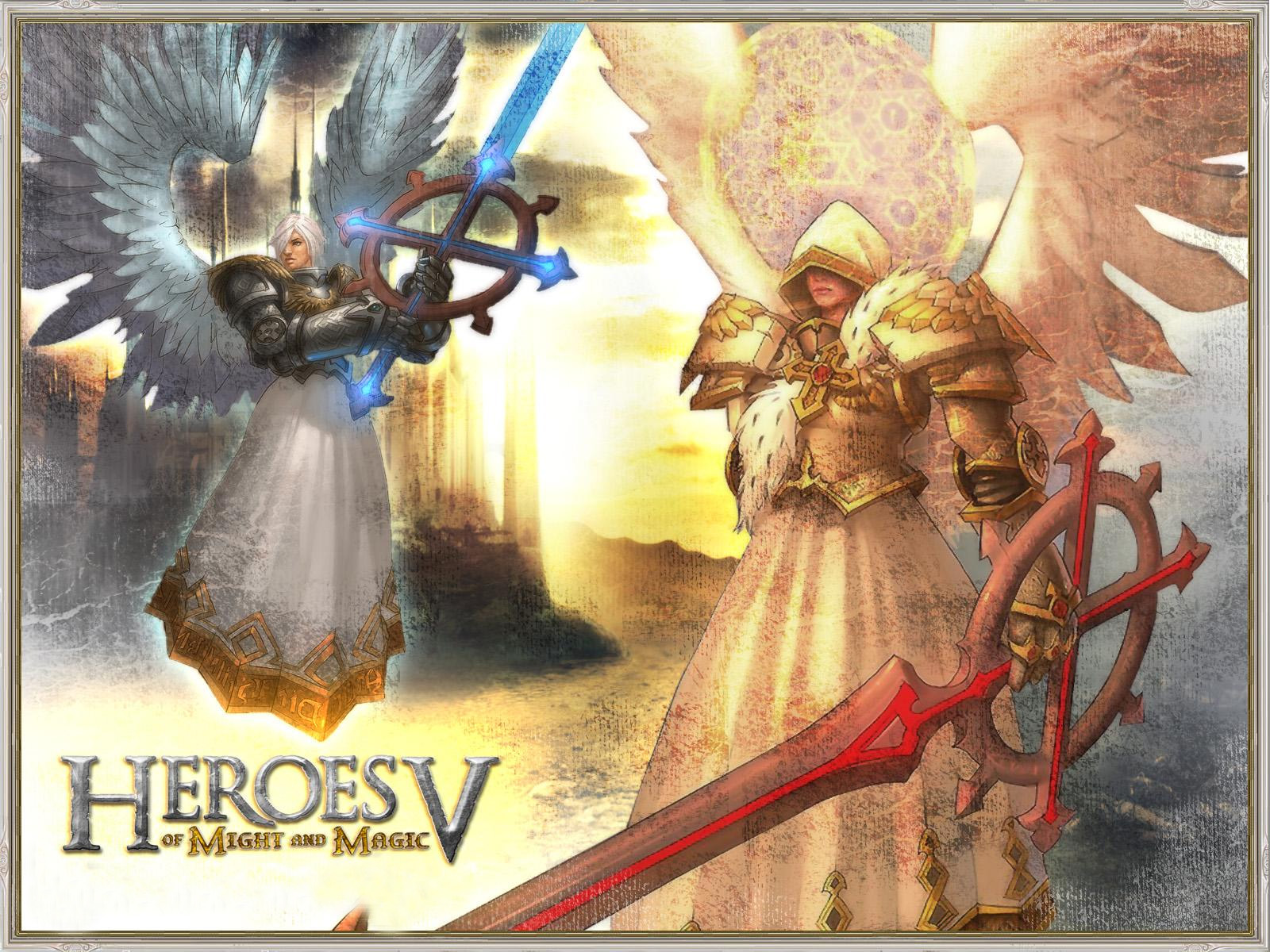 Wallpapers Heroes V Heroes Of Might And Magic Swords Warriors