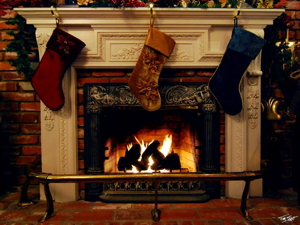 Images Christmas Socks Fireplace Holidays
