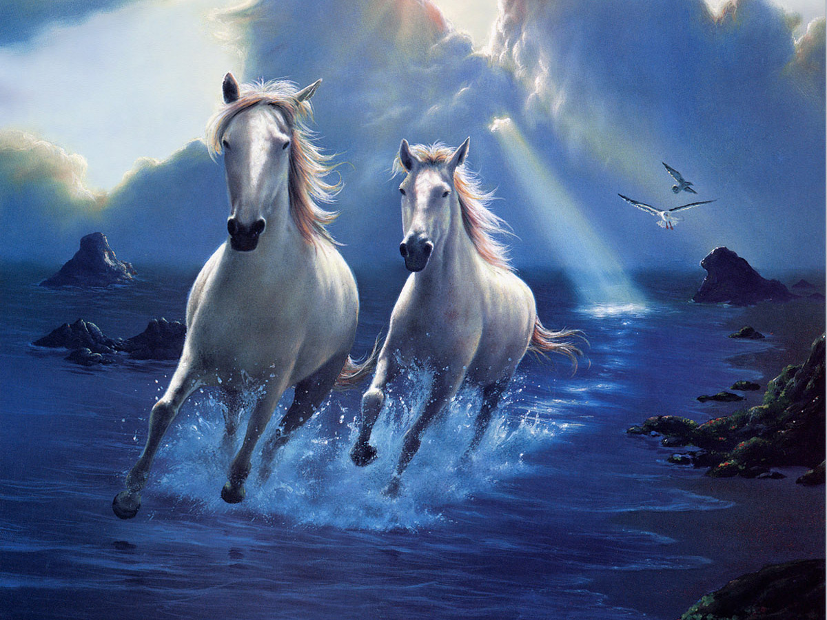 Desktop Wallpapers Jim Warren Fantasy Magical Animals