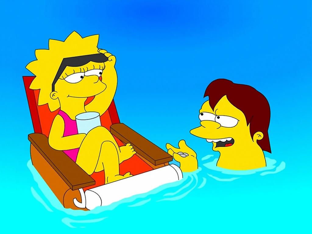 Fonds D Ecran Simpsons Lisa Simpson Dessins Animes
