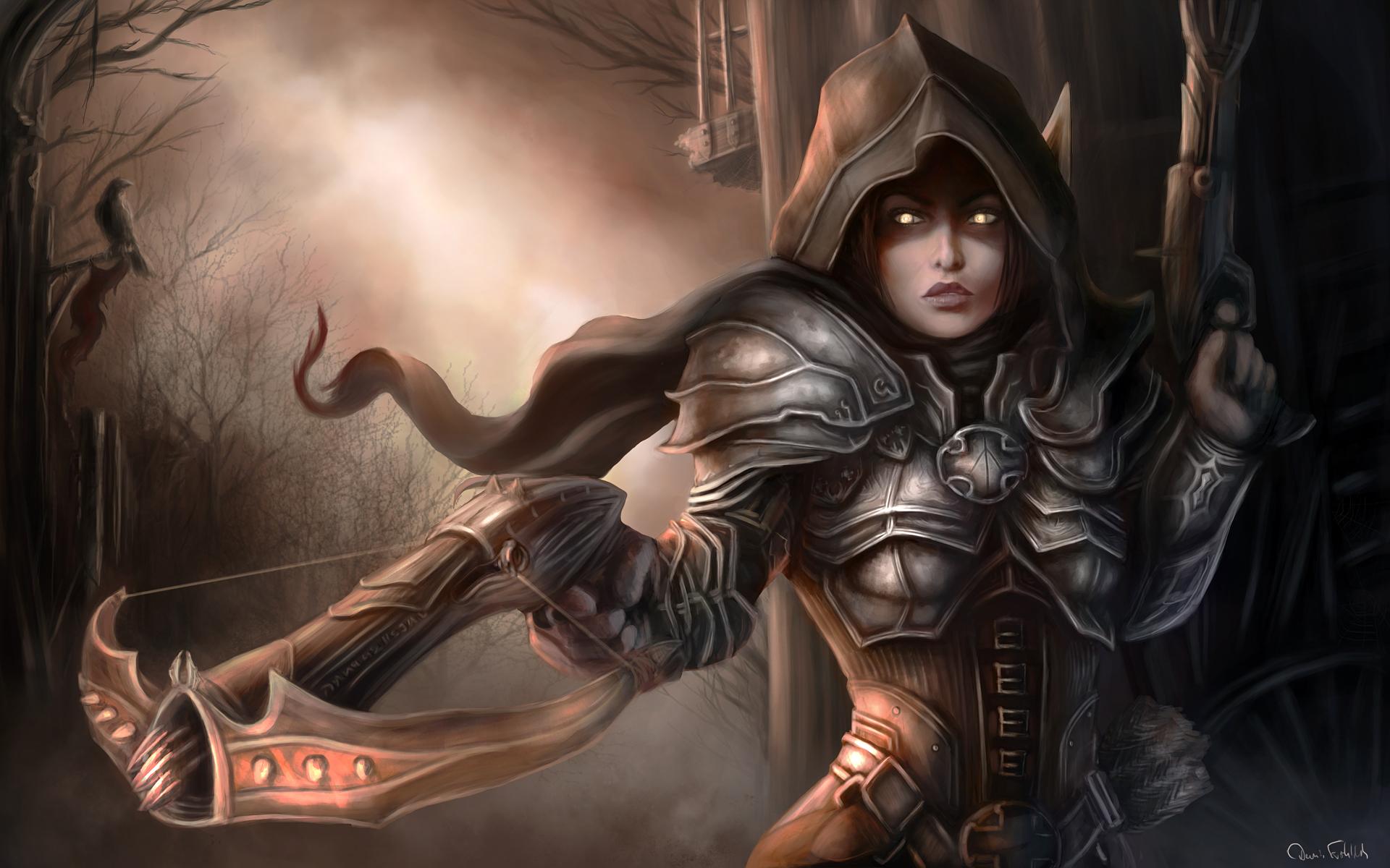 Photo Diablo III Girls Fantasy Games 1920x1200