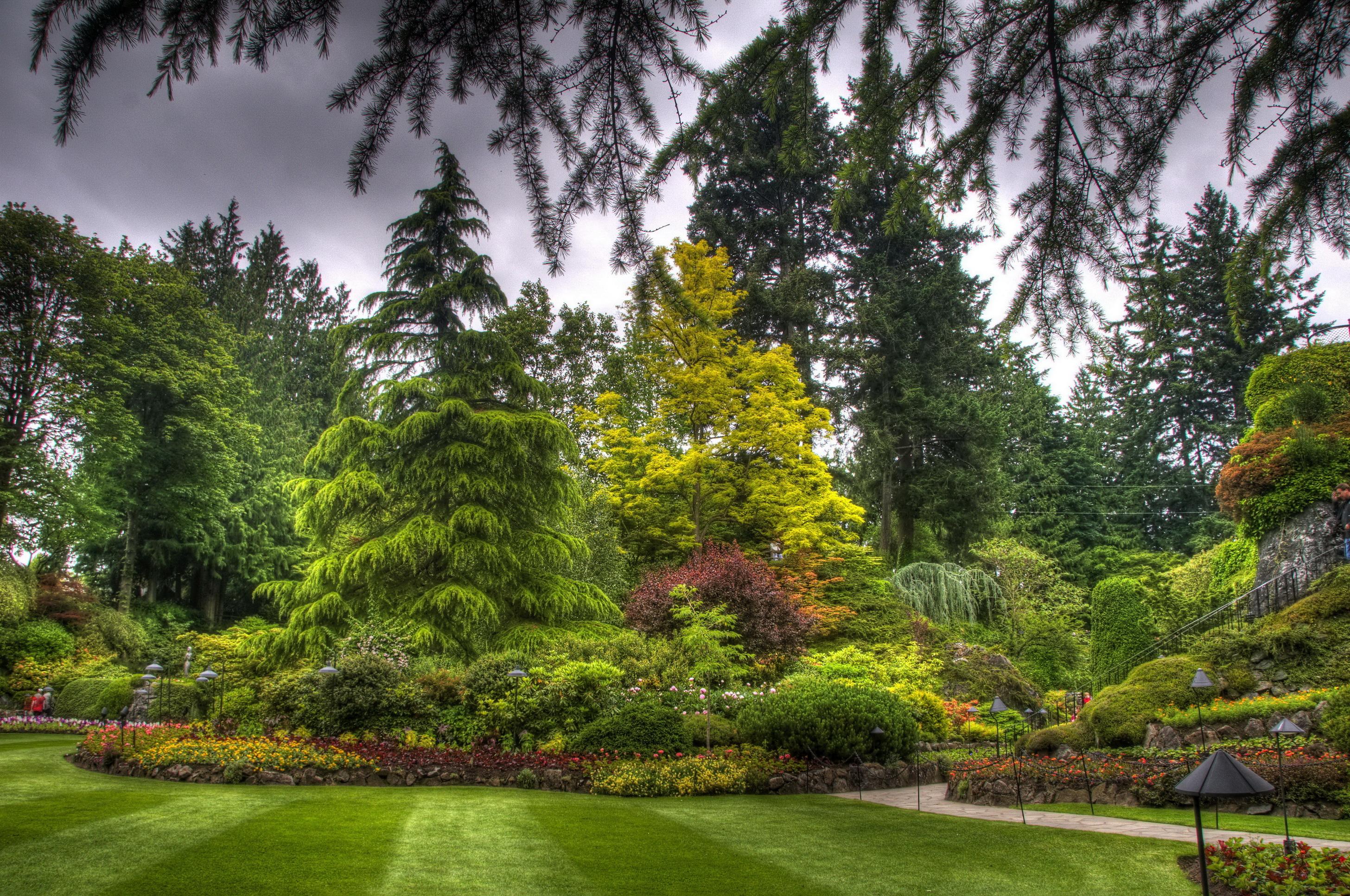 fonds d 39 ecran jardins am nagement paysager canada butchart victoria herbe branche hdr design. Black Bedroom Furniture Sets. Home Design Ideas