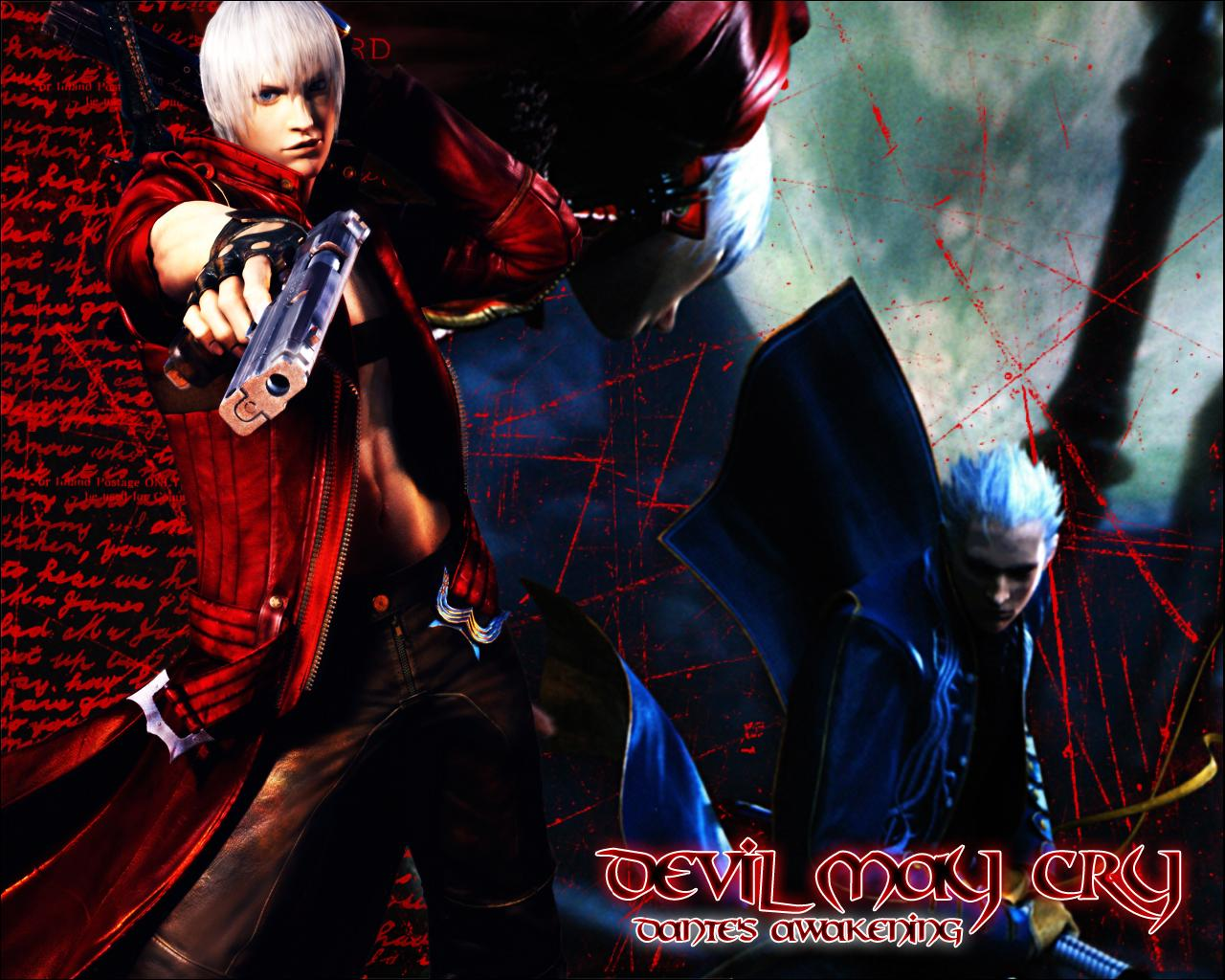 Wallpaper Dante Devil May Cry Devil May Cry 3 Vdeo Game