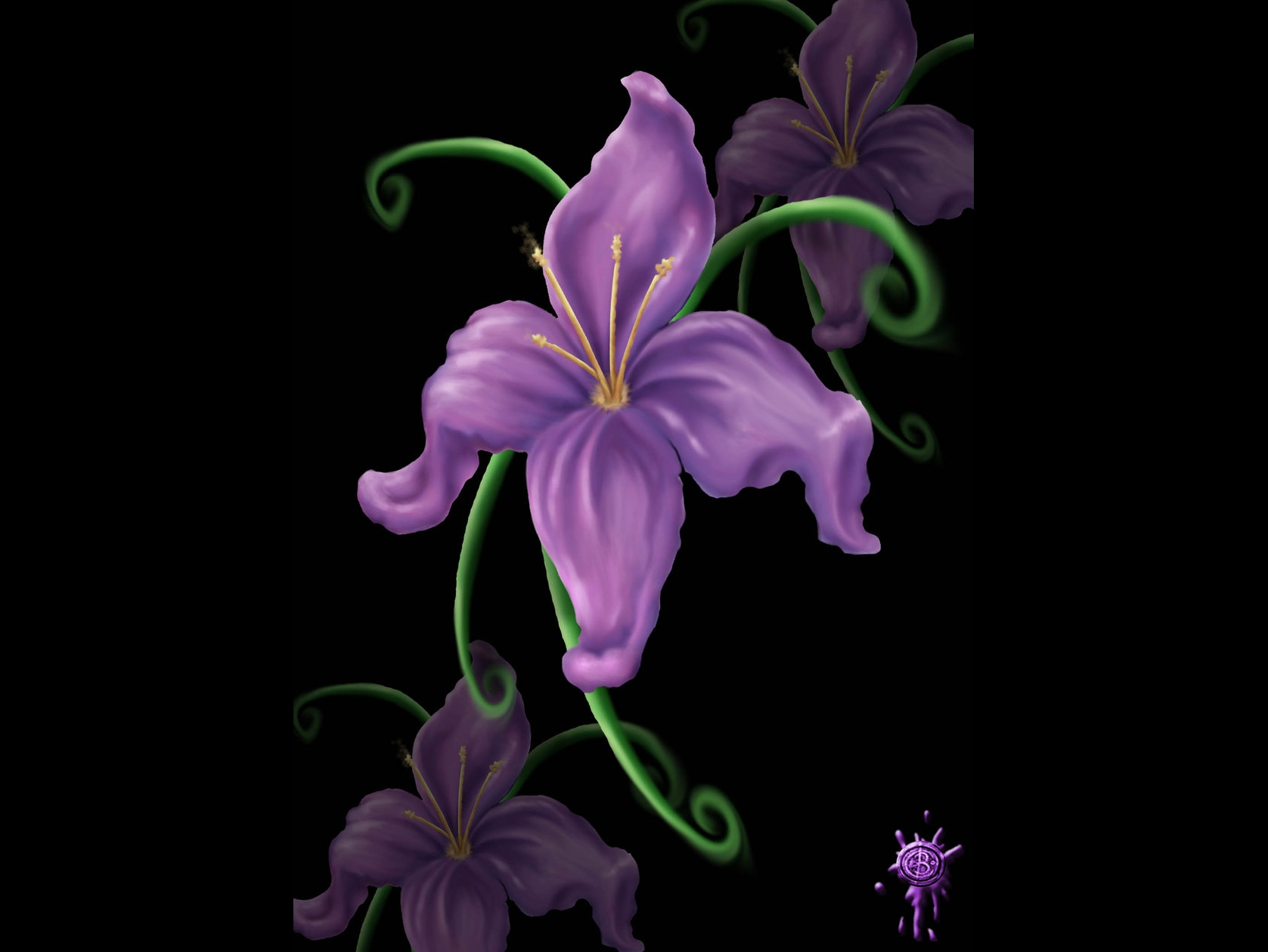 Image lilies flowers izmirmasajfo