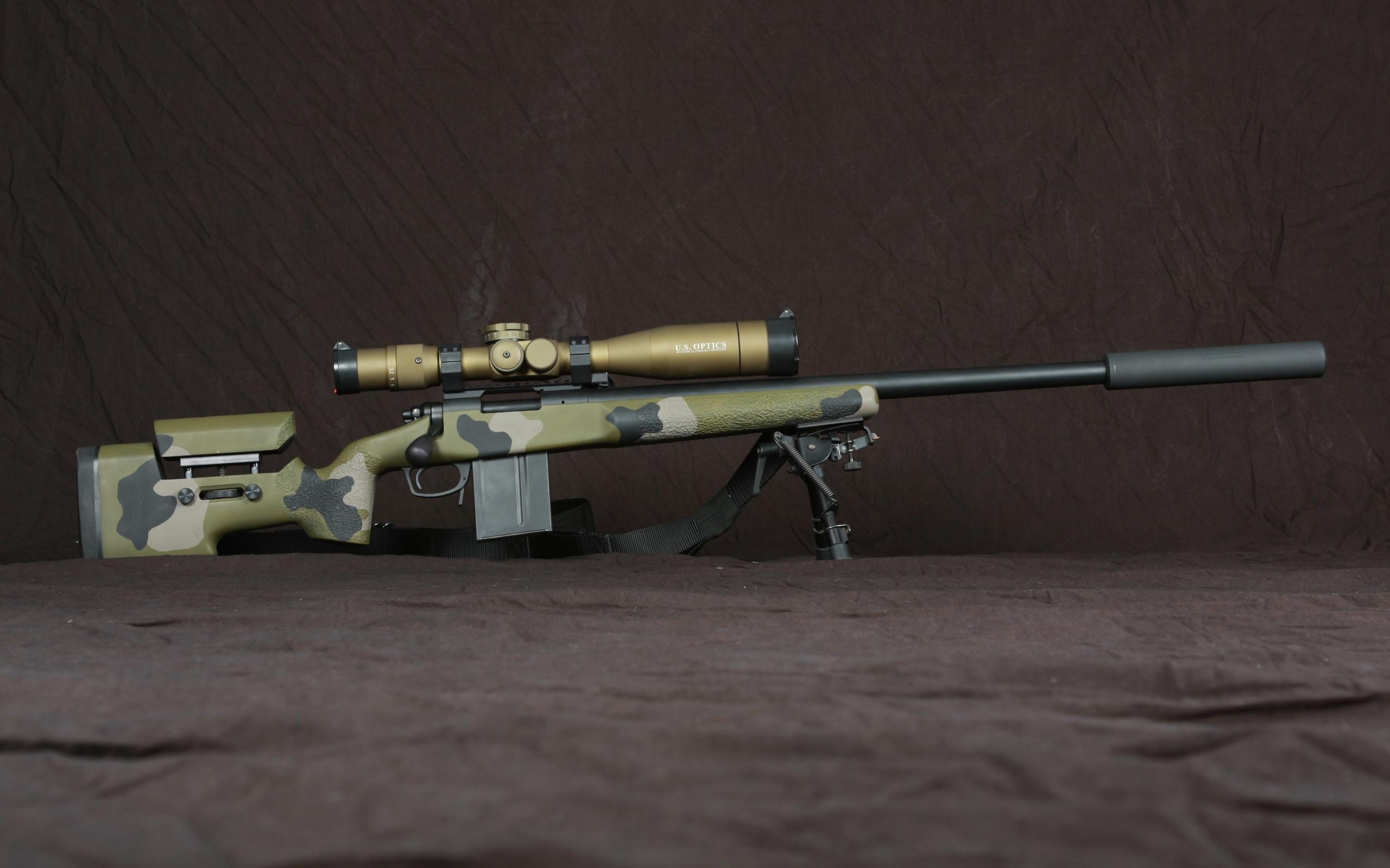 Wallpaper Army Sniper Rifle Rifles Telescopic Sight 2560x1600