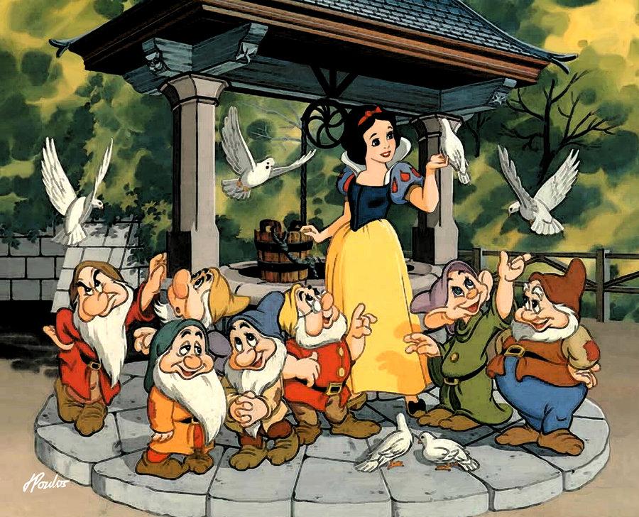 картинки белоснежка и семь гномов мультфильм