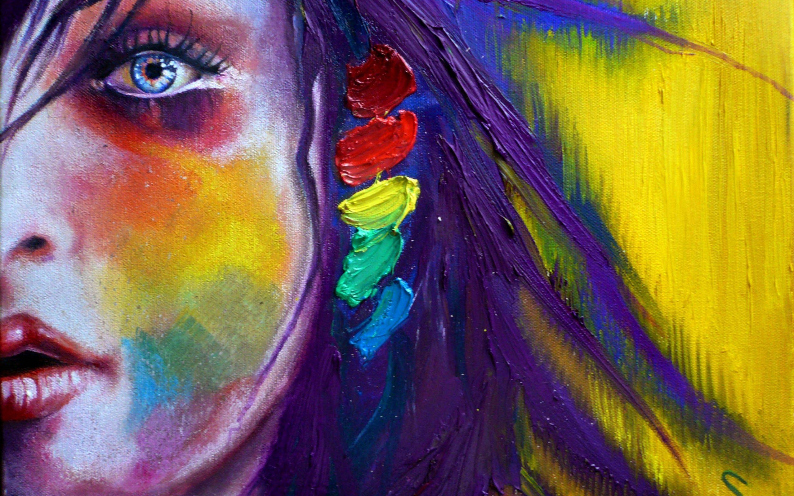 Paint Rainbow Girl Wallpapers: Fondos De Pantalla 2560x1600 Pintura Descargar Imagenes