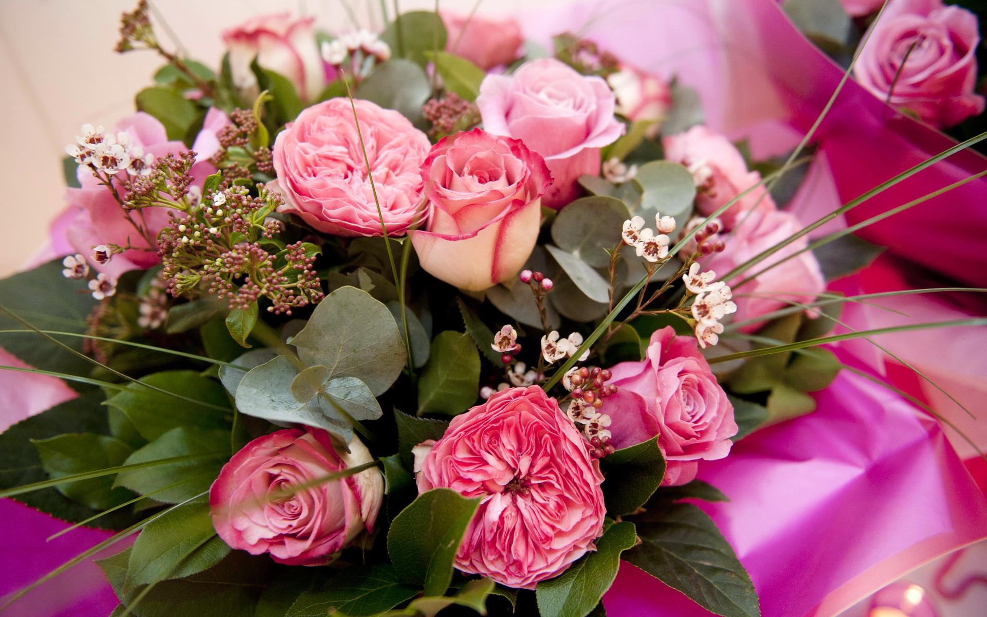 цветов букетов роз
