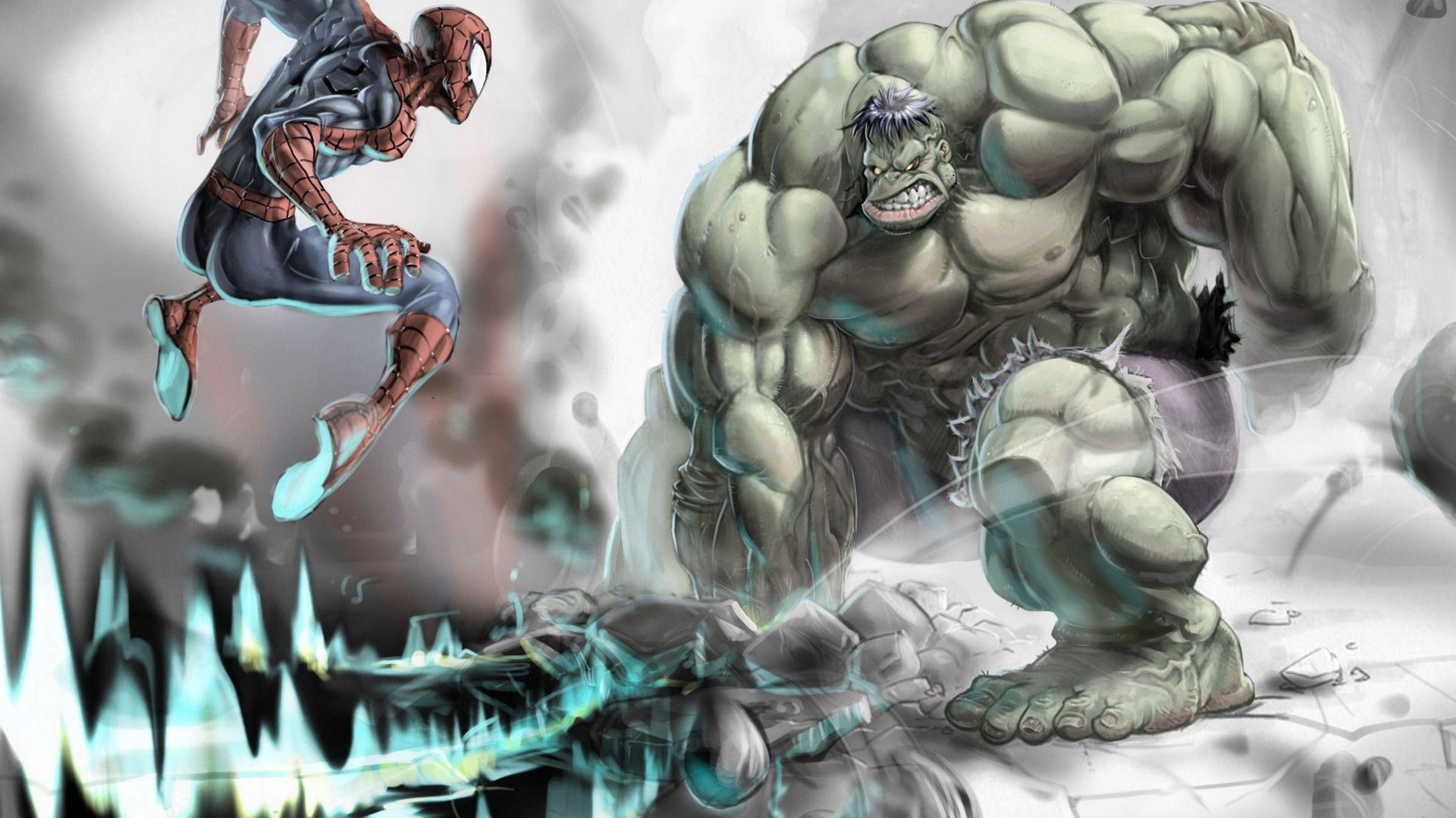 Tapeta na pulpit superbohaterów Spider-Man superbohater Fantasy Bohaterowie komiksów