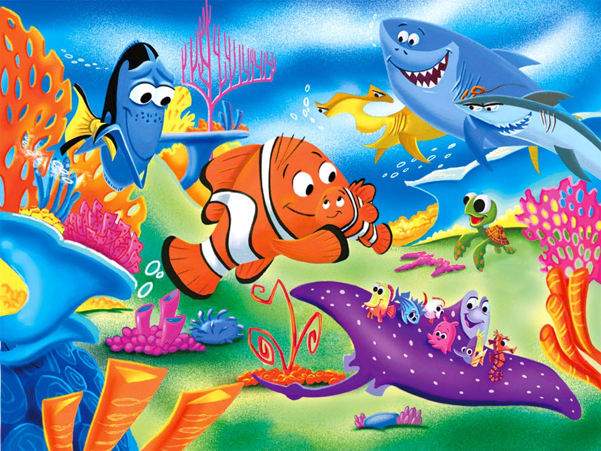 wallpaper disney finding nemo cartoons