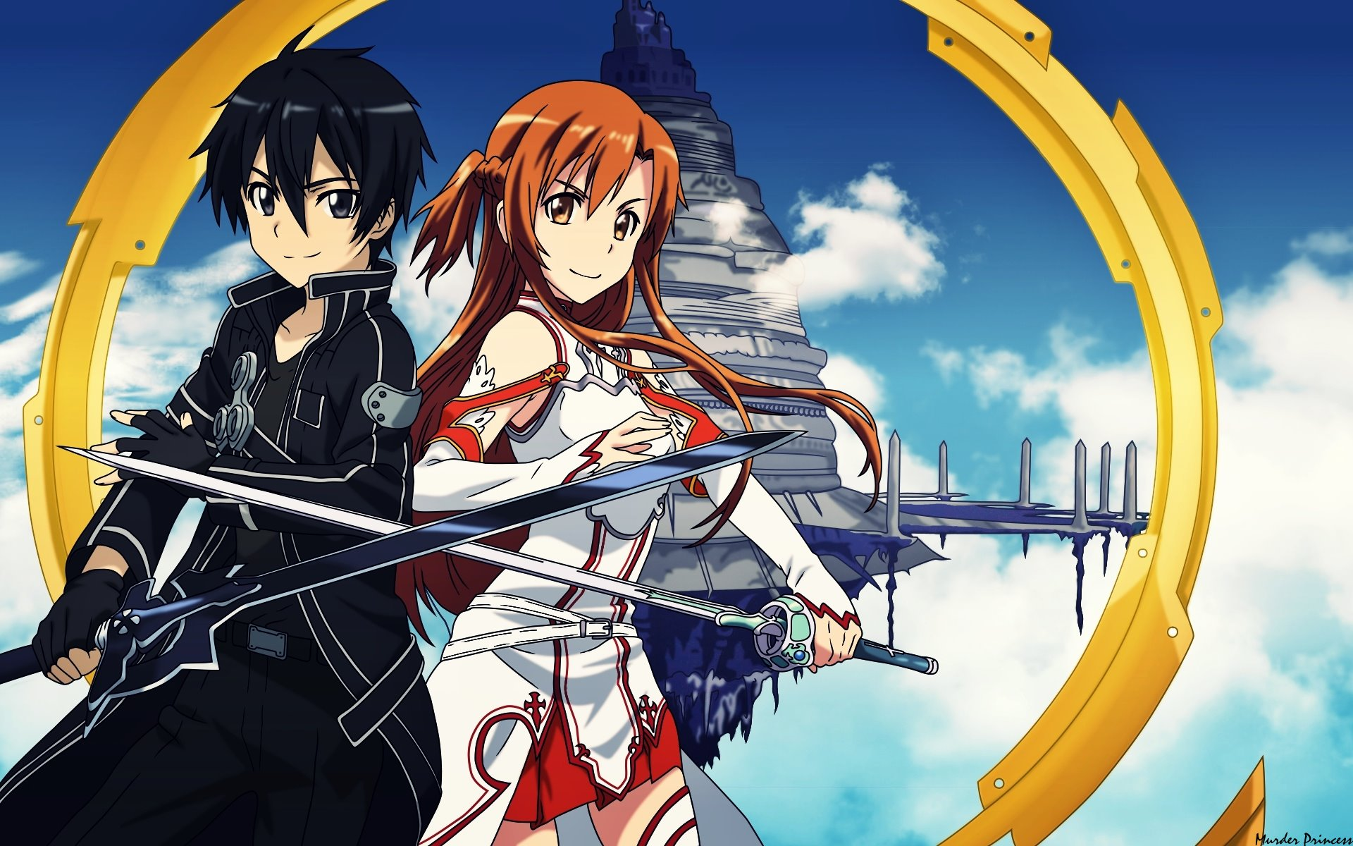 wallpapers sao young man girls anime