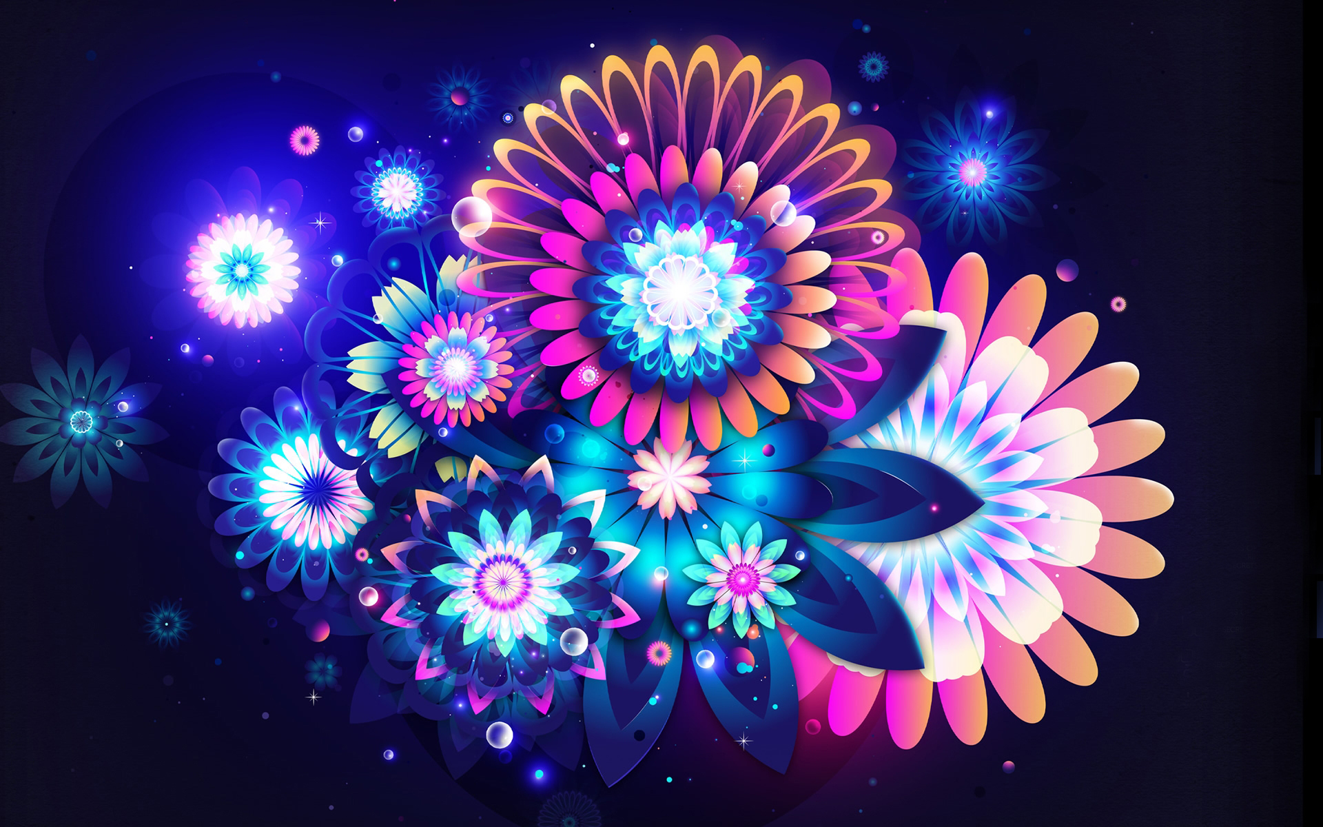 Pictures 3D Graphics Flowers 1920x1200