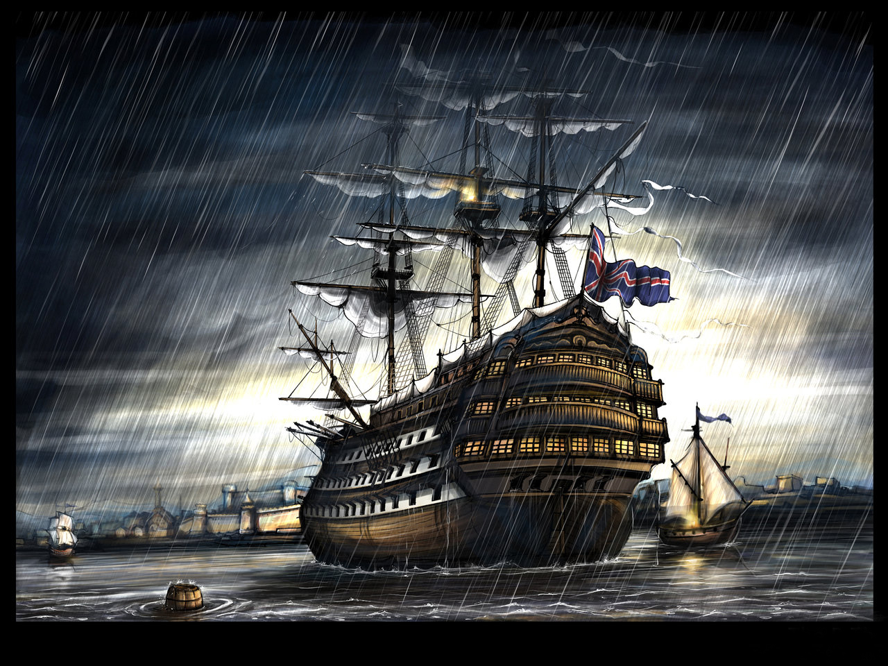 фэнтези корабли картинки