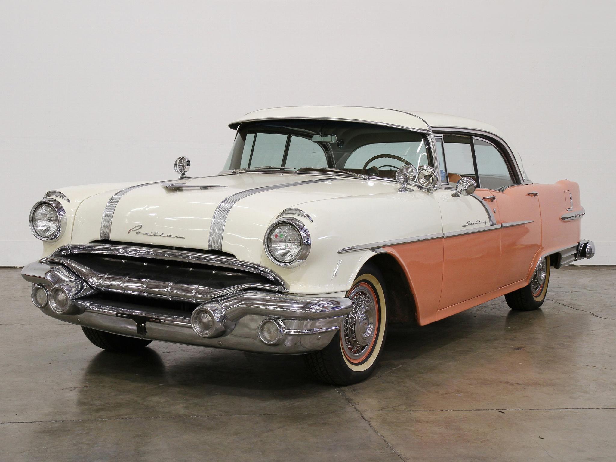 Picture pontiac starchief catalina 4 door hardtop 1956 auto for 1956 pontiac 4 door hardtop