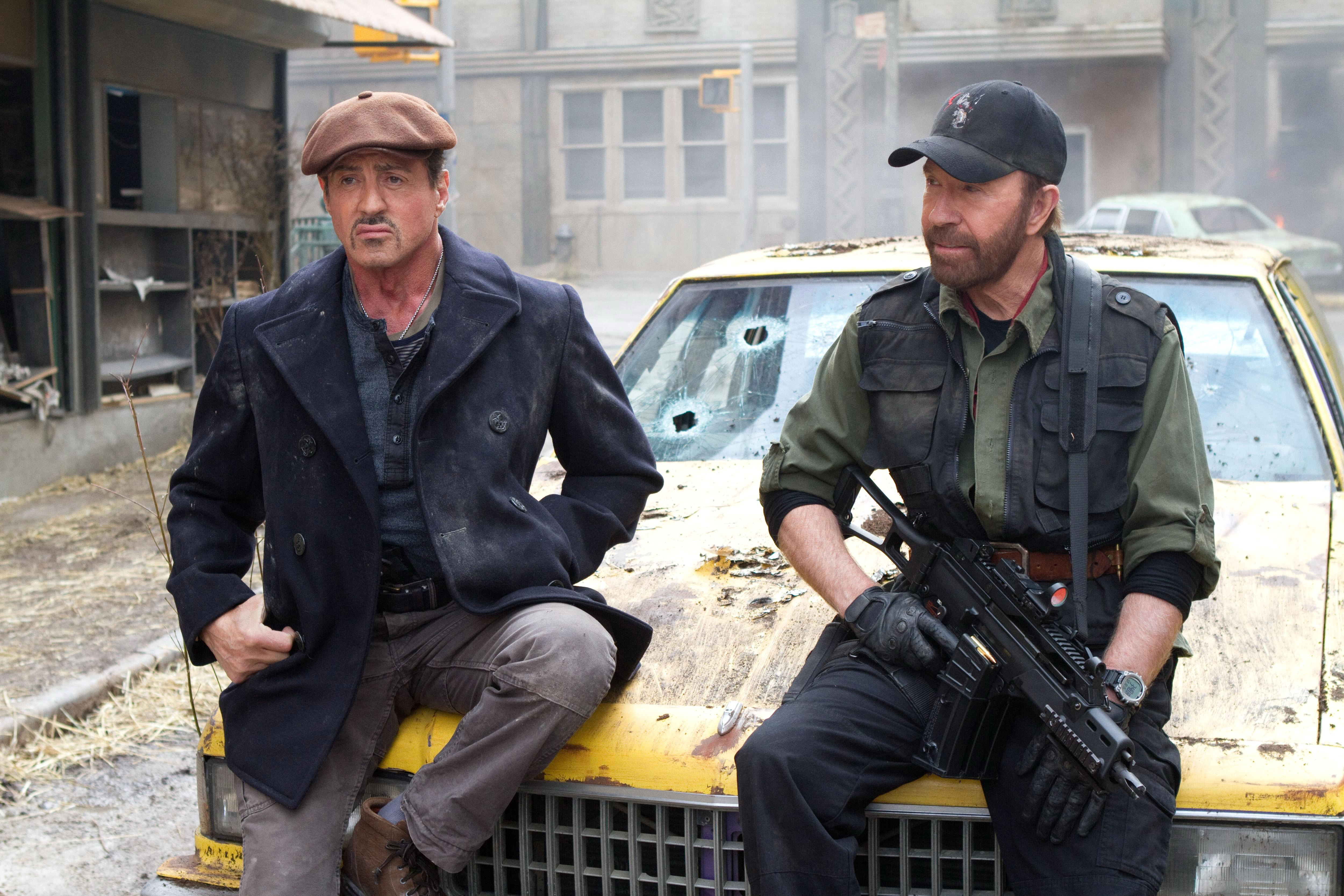 Picture The Expendables 2010 Chuck Norris Sylvester Stallone film 5000x3333 Movies