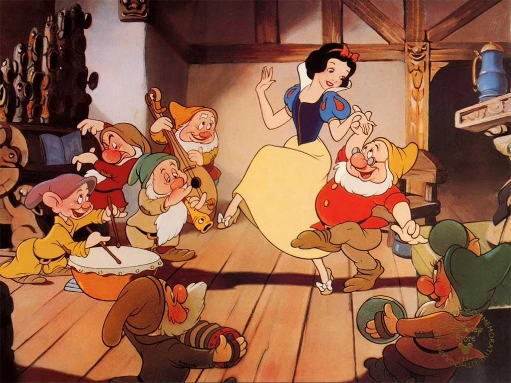 Wallpaper Disney Snow White And The Seven Dwarfs Cartoons