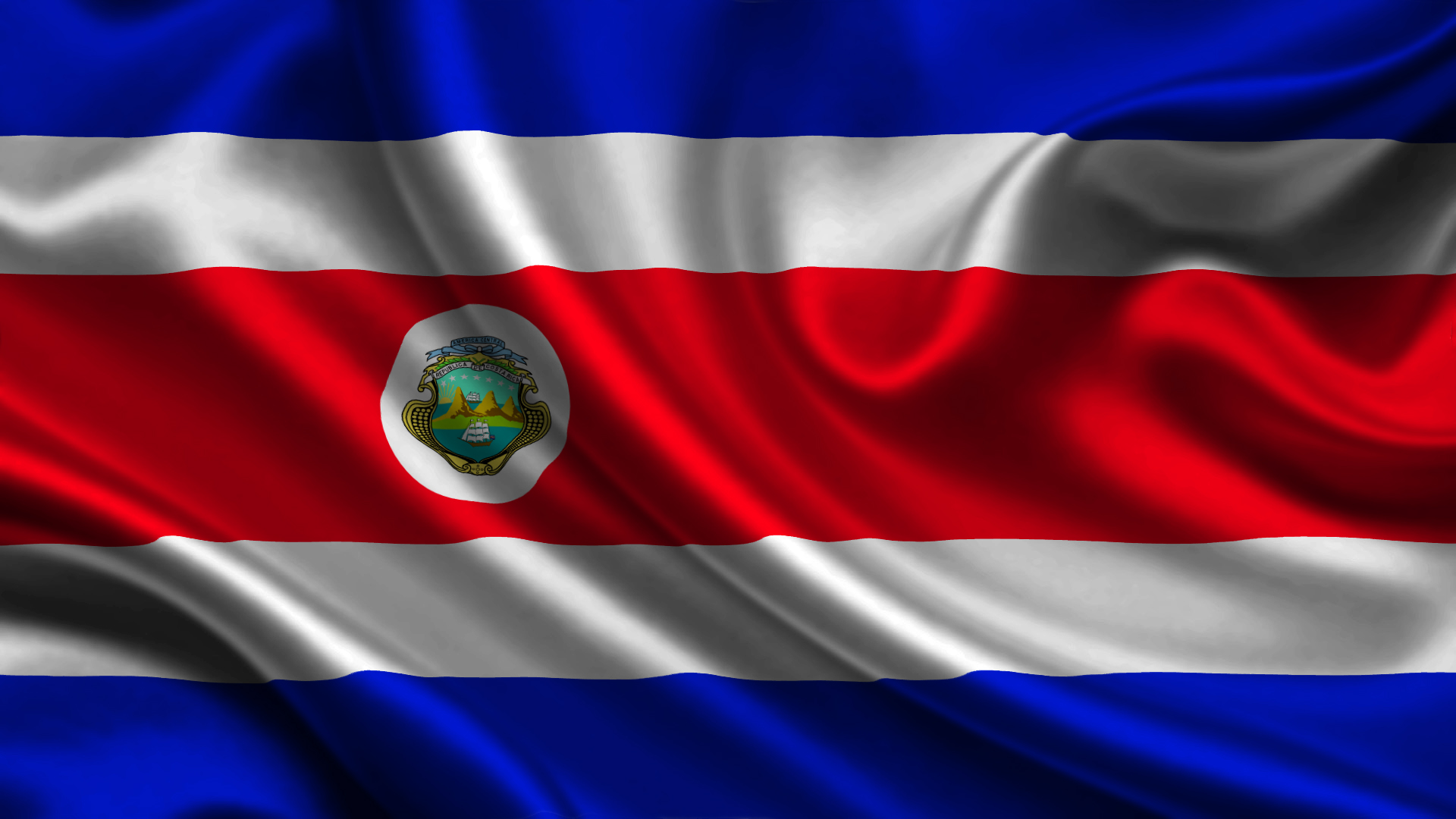 Images Costa Rica Flag Stripes 1920x1080