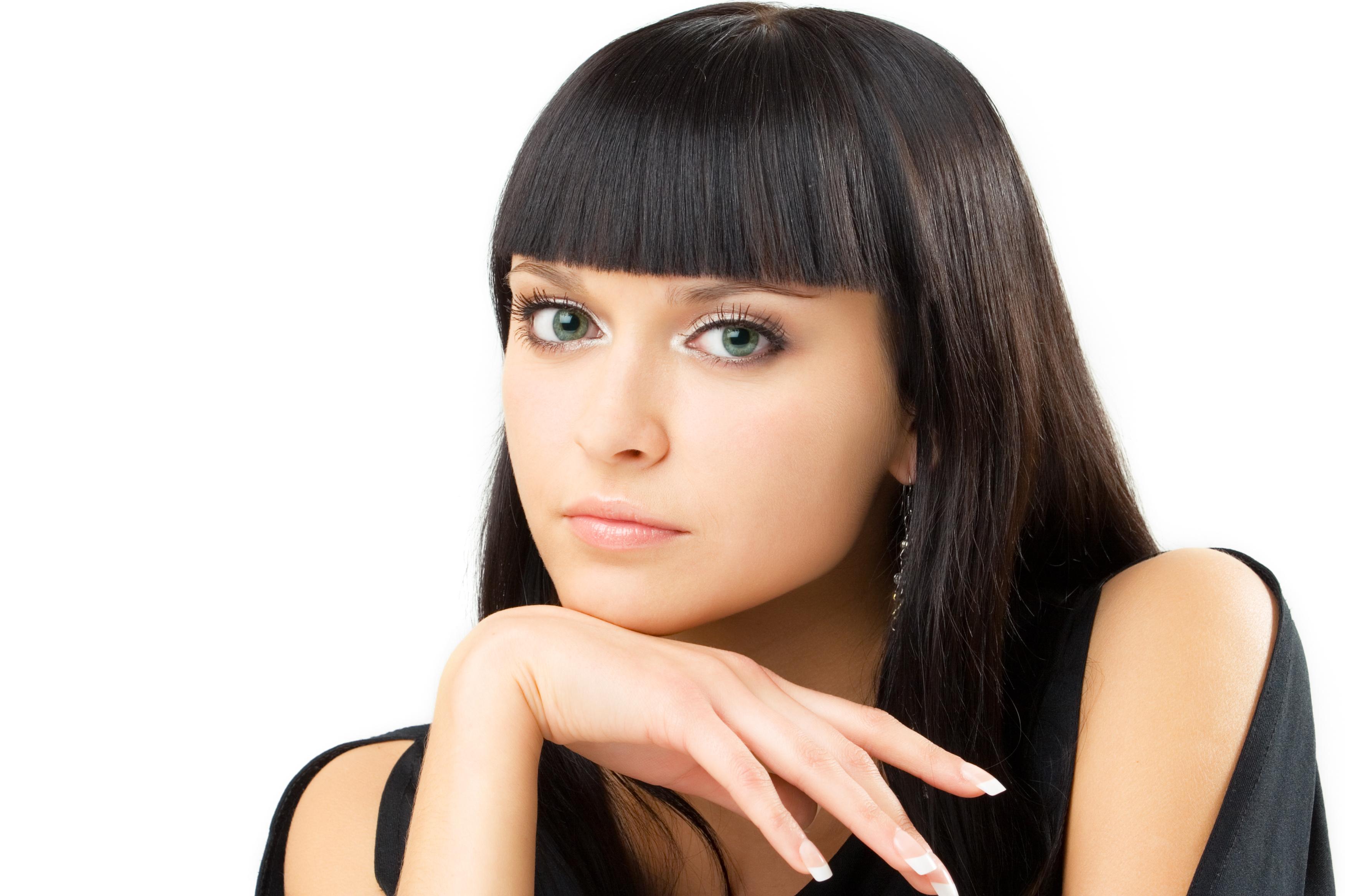 Стрижки девушек брюнеток лицо 4 фотография