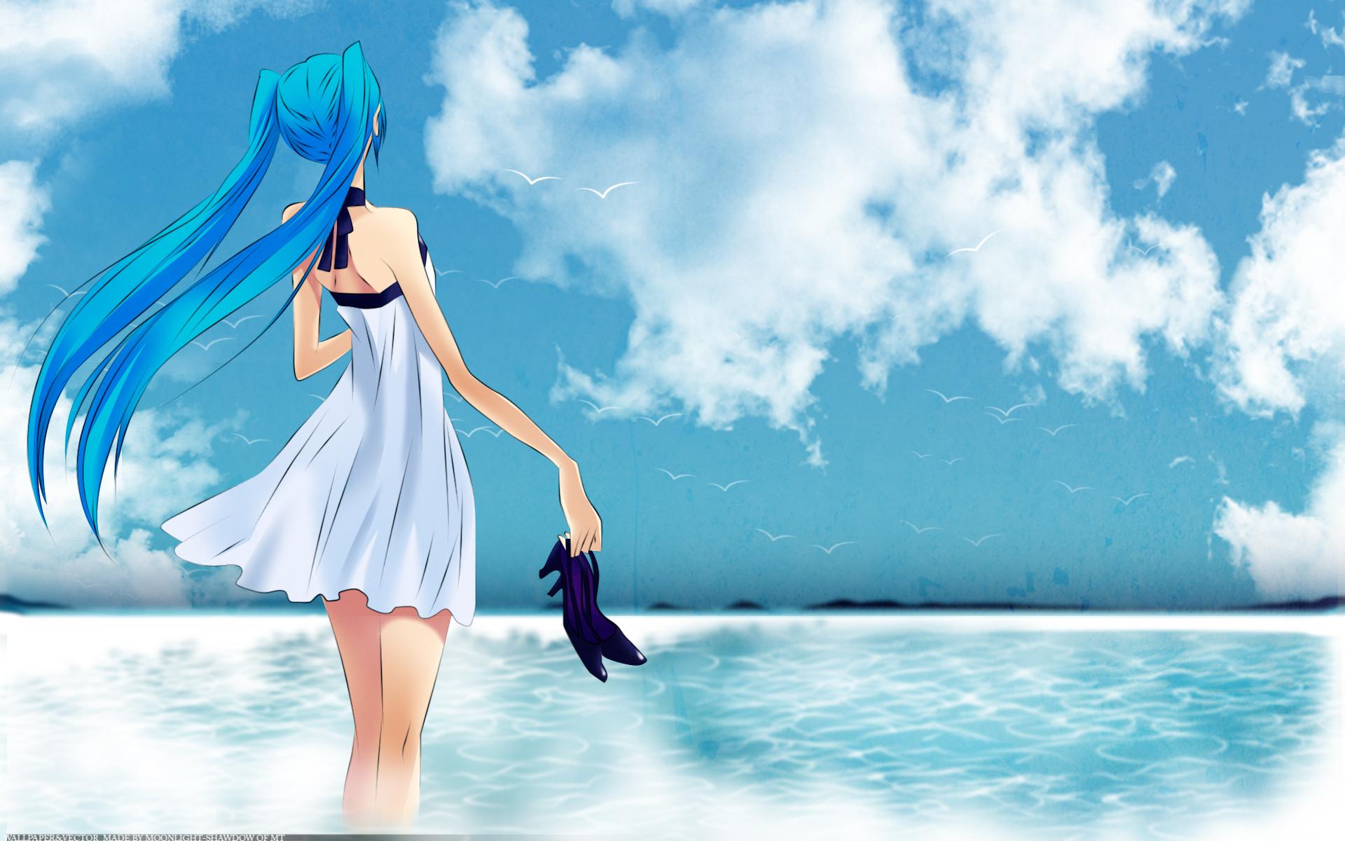 Photos Vocaloid Girls Anime Sky 1920x1200