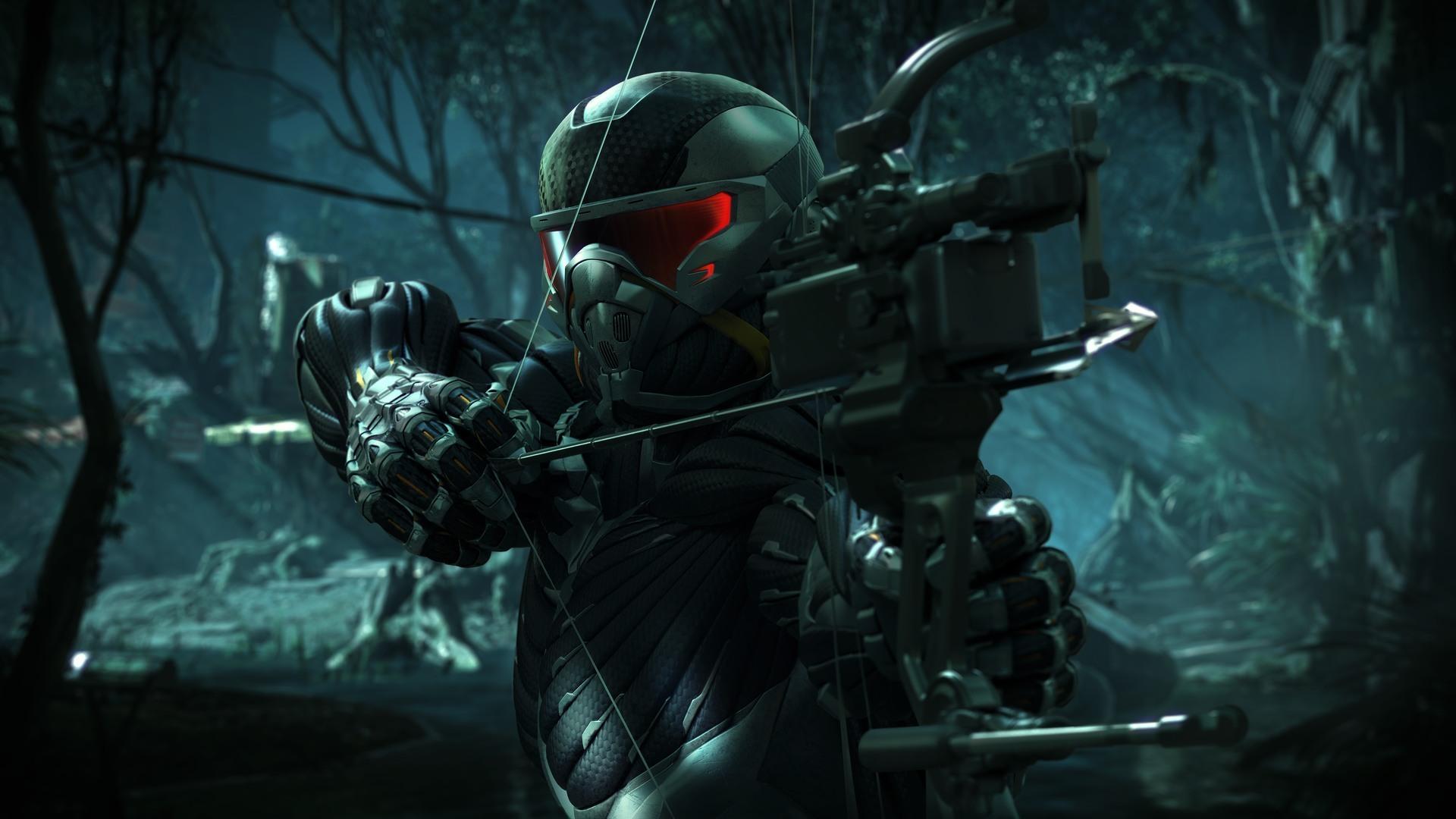Bilder von Spiele Crysis Crysis 3 Bogenschütze Bogen Waffen computerspiel