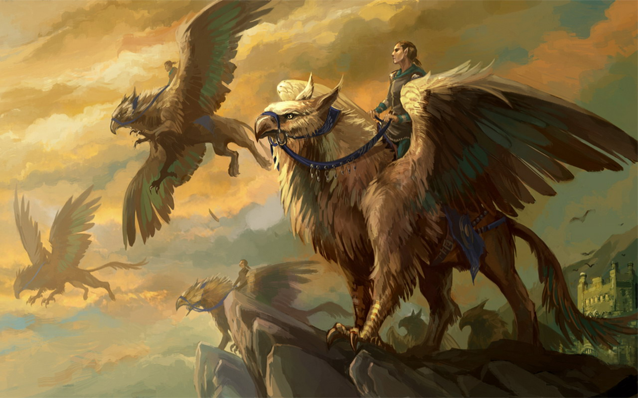 Wallpapers Gryphon Fantasy Magical Animals