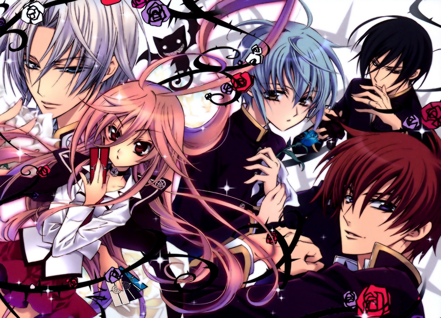 Hintergrundbilder Kiss Of Rose Princess Anime 1675x1210