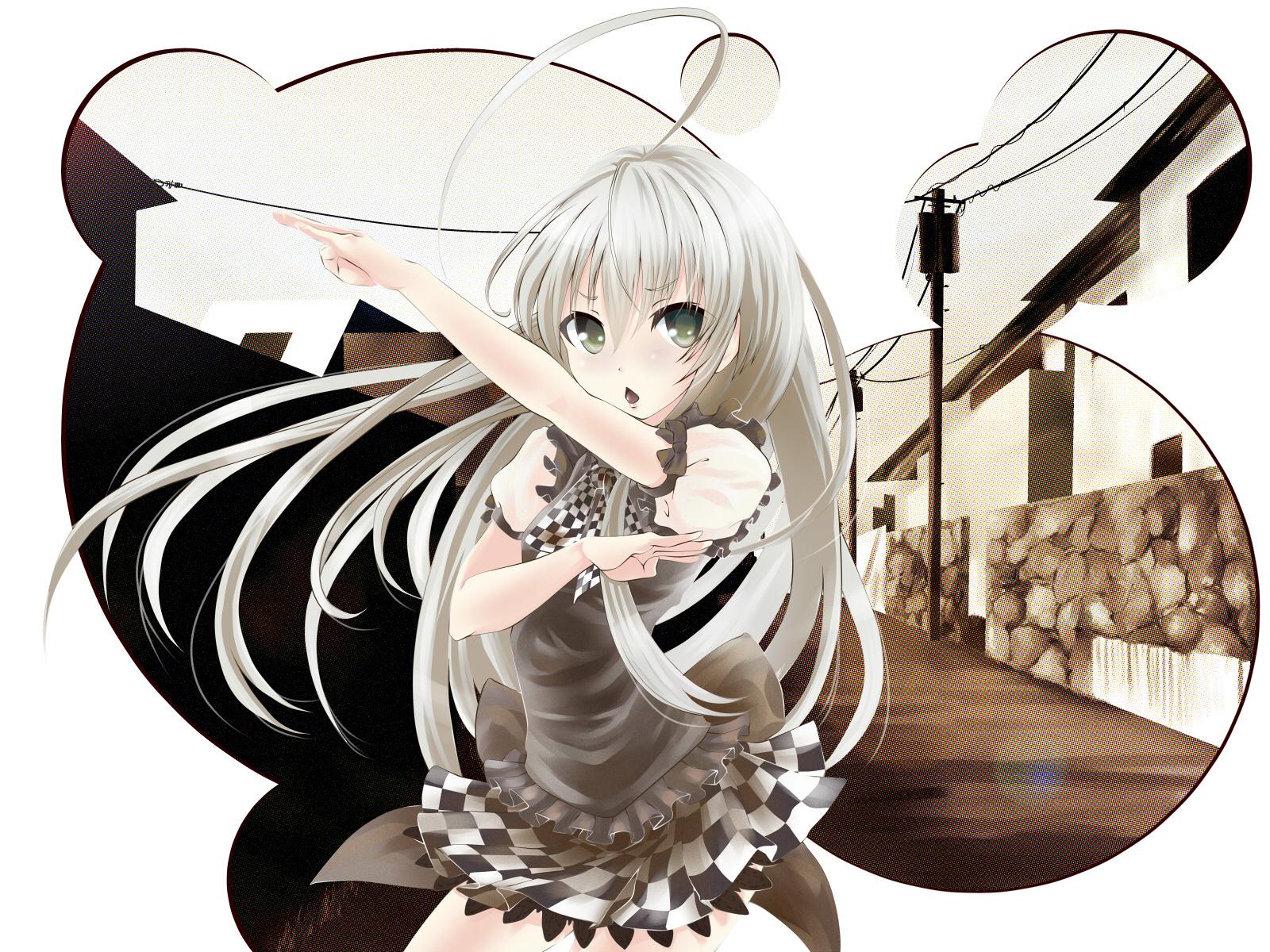 Wallpaper Nyaruko Crawling With Love Girls Anime