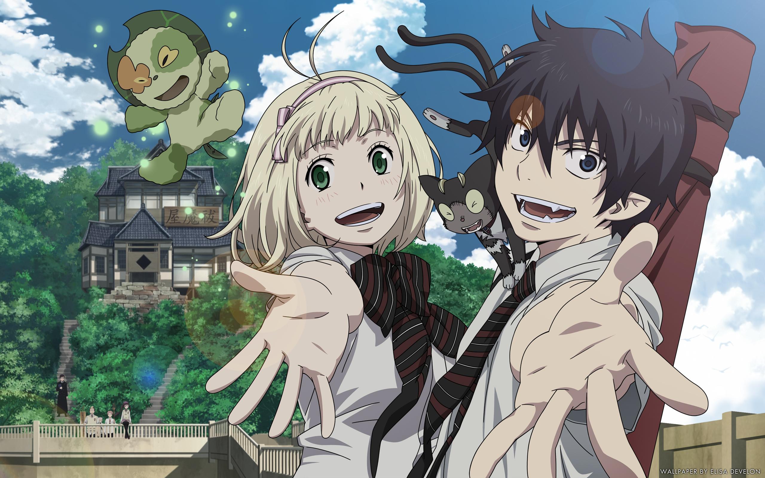 Fonds D Ecran 2560x1600 Ao No Exorcist Jeune Homme Anime Filles
