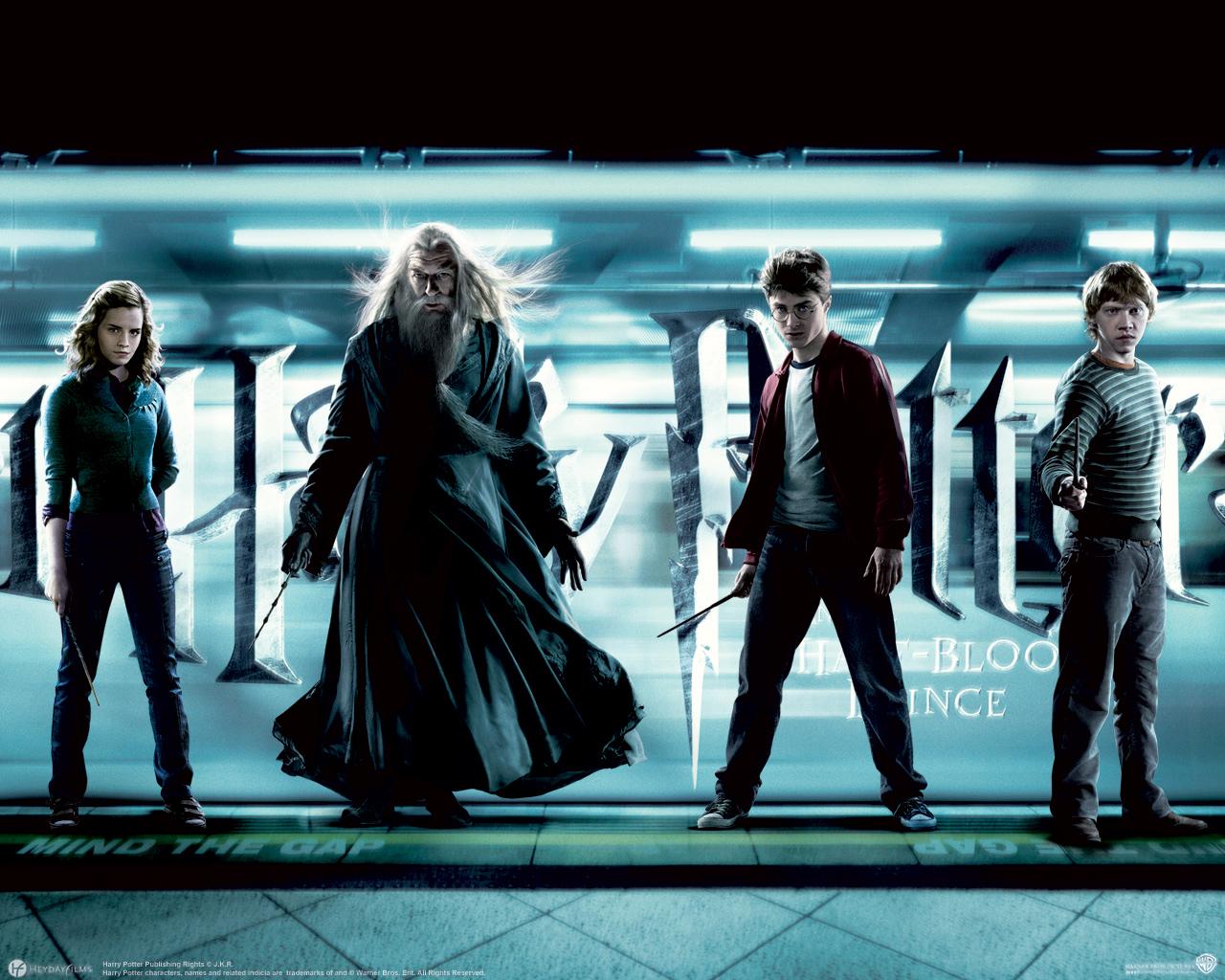 Desktop Wallpapers Harry Potter Harry Potter and the Half-Blood Prince Emma Watson Rupert Grint Daniel Radcliffe film Movies