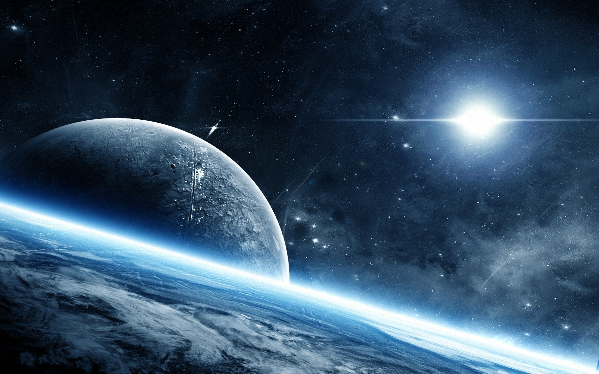 Photo stars planets space 1920x1200 - Space wallpaper 1920x1200 ...