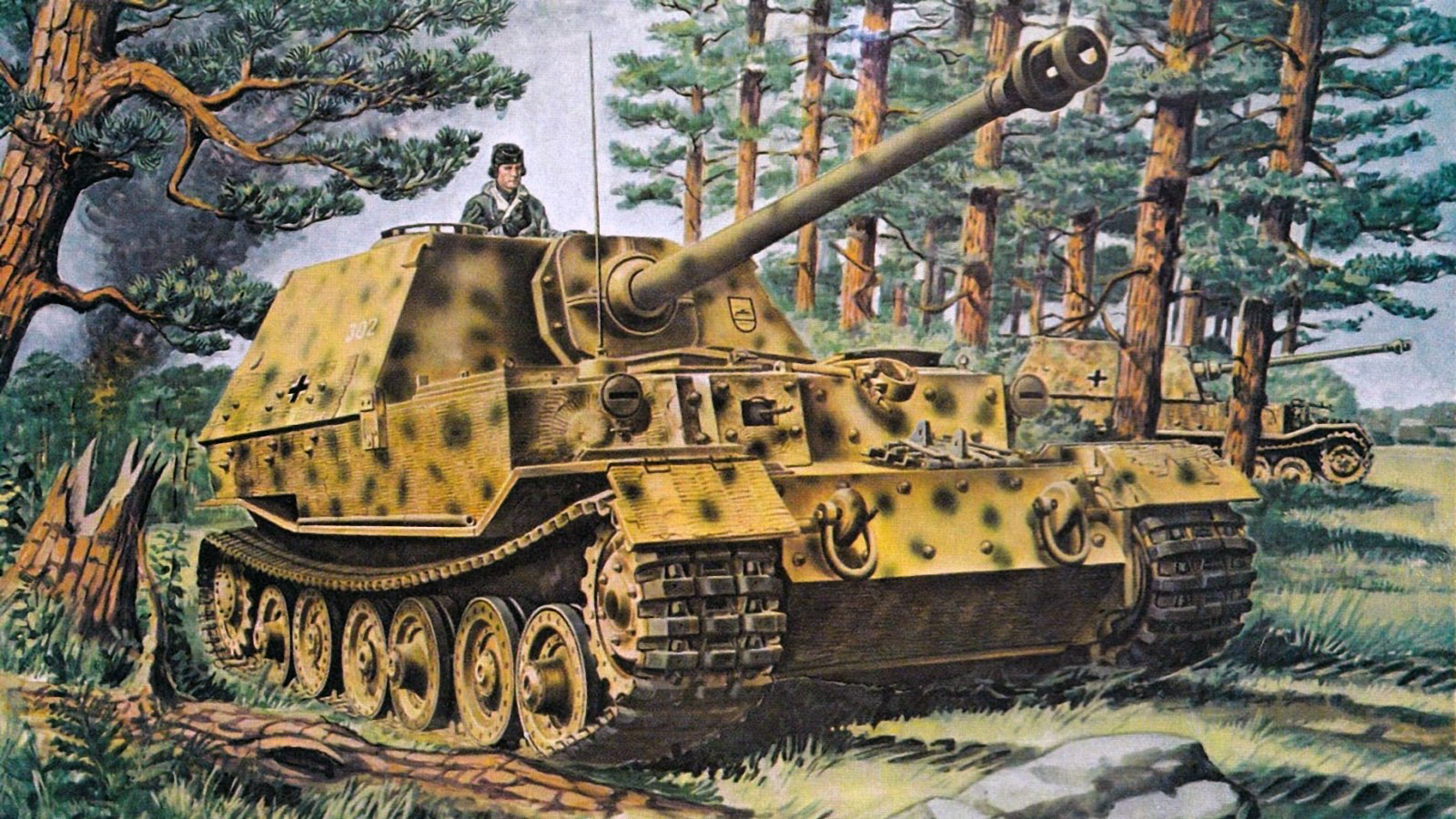 Images Tanks Ferdinand Painting Art Army