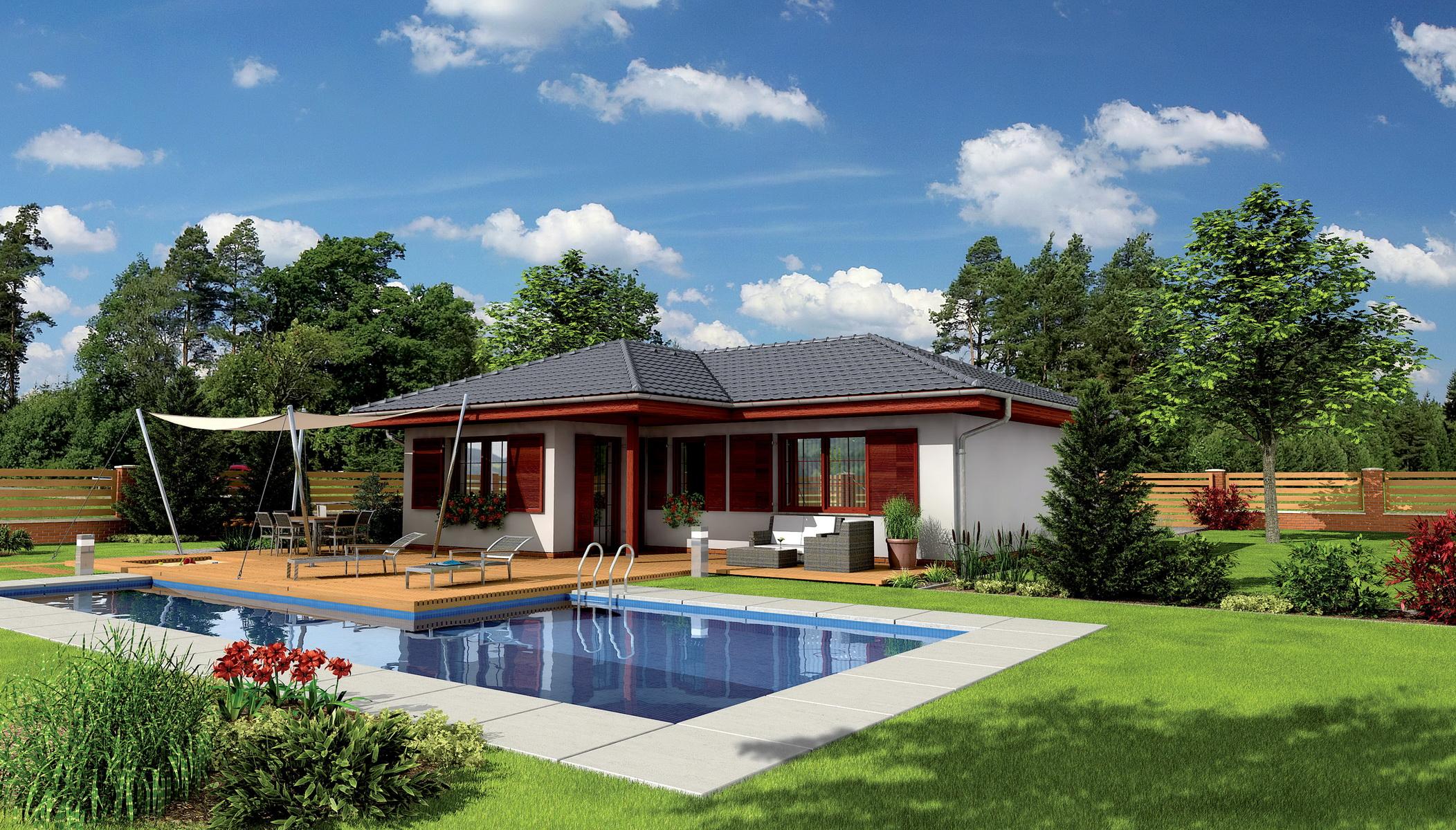 Fondos de pantalla casa hierba c sped piscina dise o for Programa diseno de piscinas 3d gratis