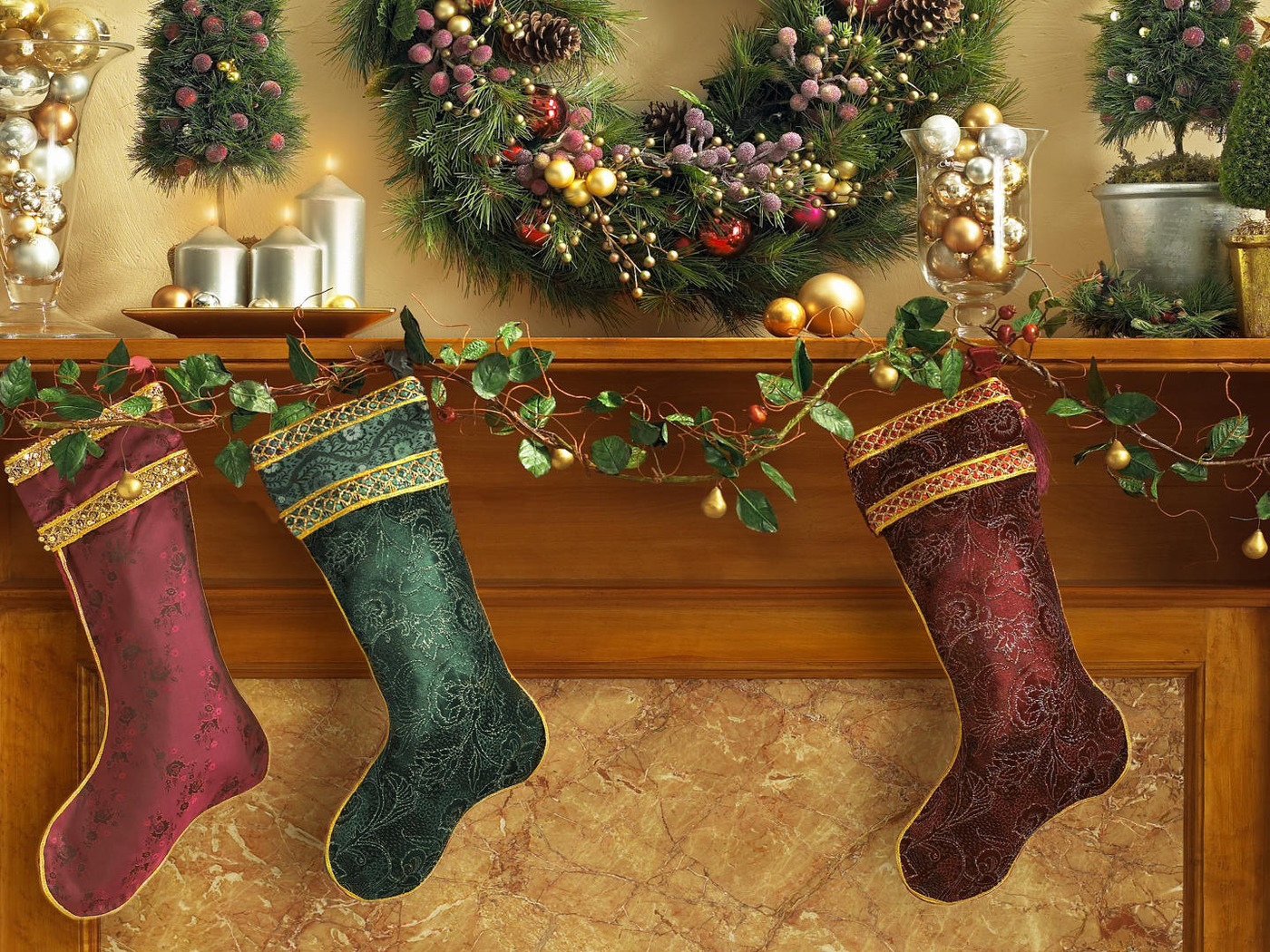 Pictures New year Socks Holidays Christmas