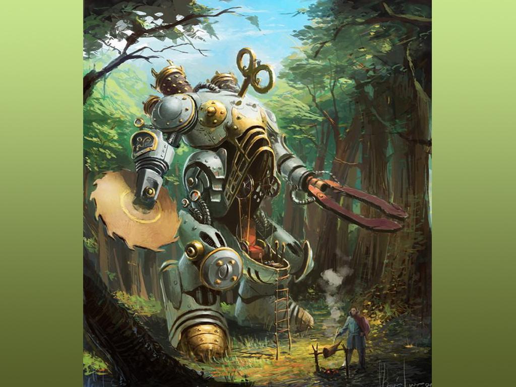 Fondos De Pantalla Steampunk Robot Fantasía Descargar Imagenes