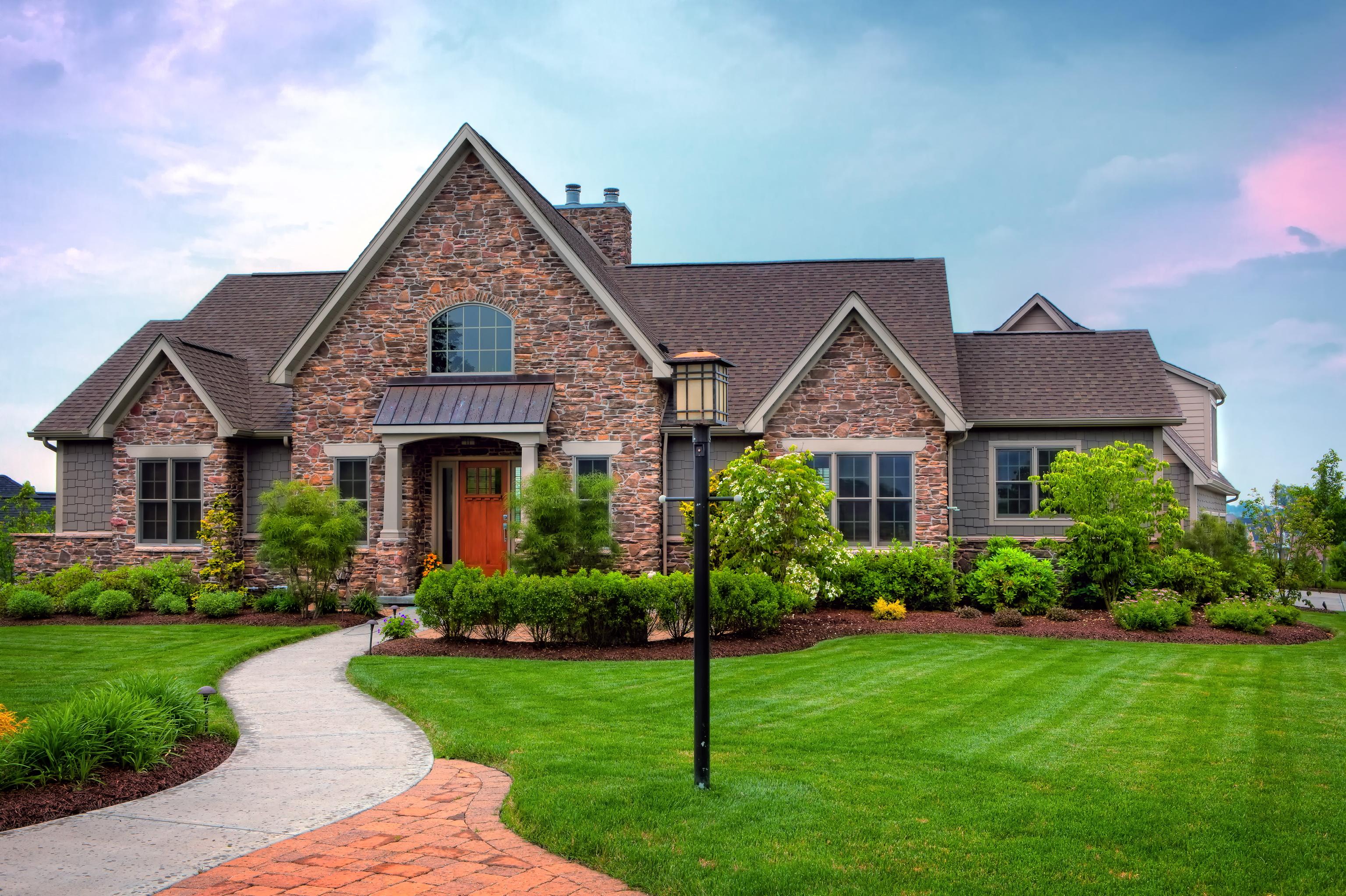 Landscape Houses photos mansion lawn grass cities building landscape design 3072x2046