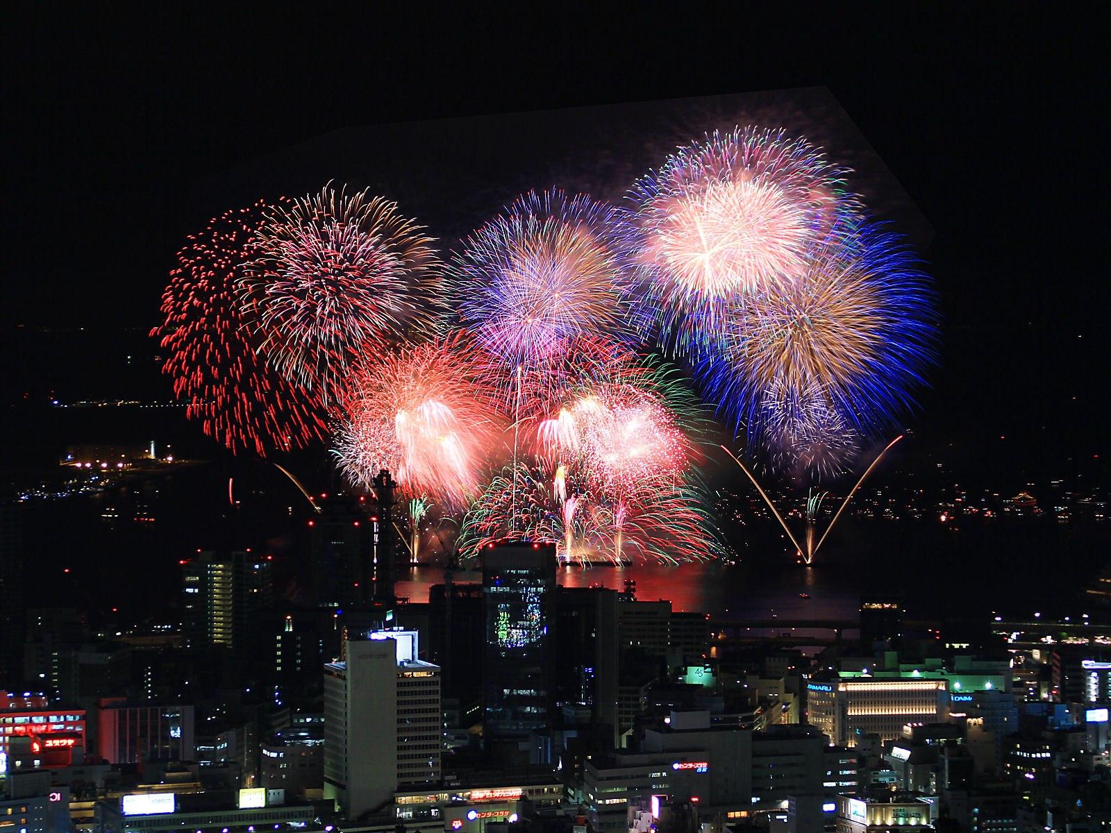 Wallpaper Fireworks Holidays 1600x1200