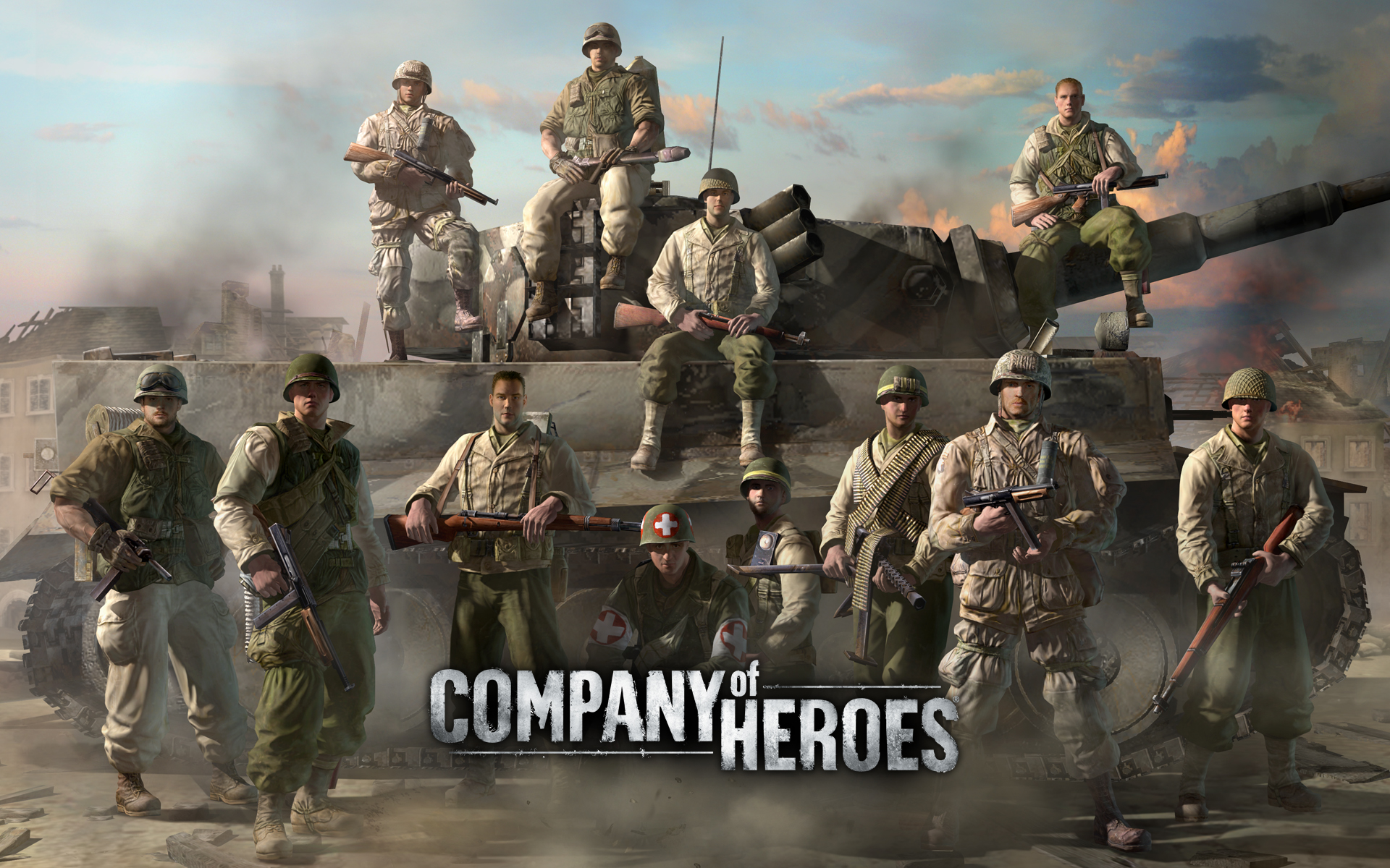 images company of heroes games 1920x1200