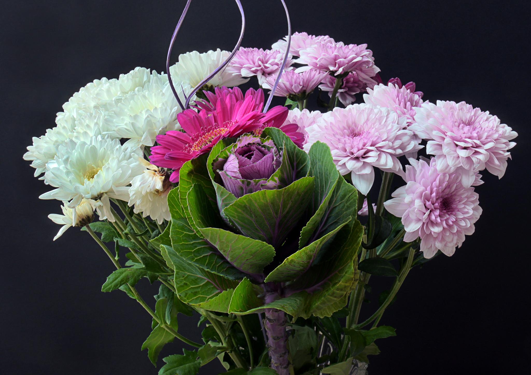 Fondos de pantalla crisantemos ramos flores descargar imagenes - Imagenes de ramos de flores ...