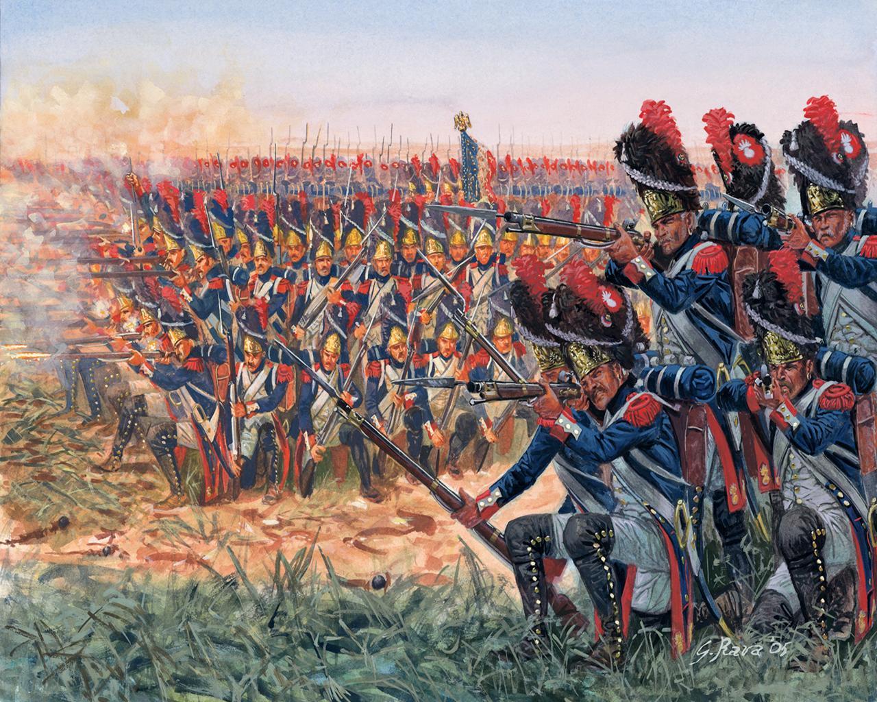 壁紙 絵画 Napoleonic Wars French Granadiers フレンチ
