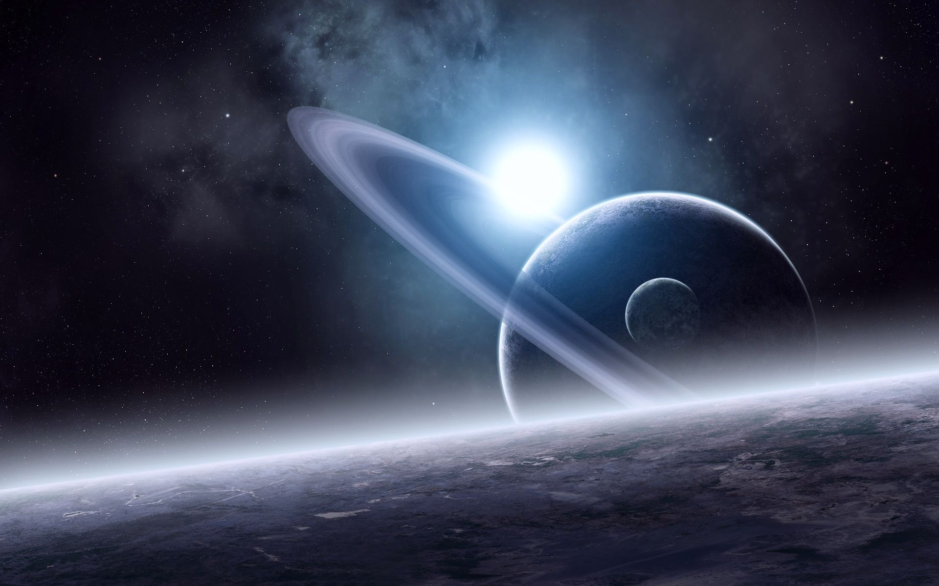 Photo Space Stars Planets Planetary Ring System