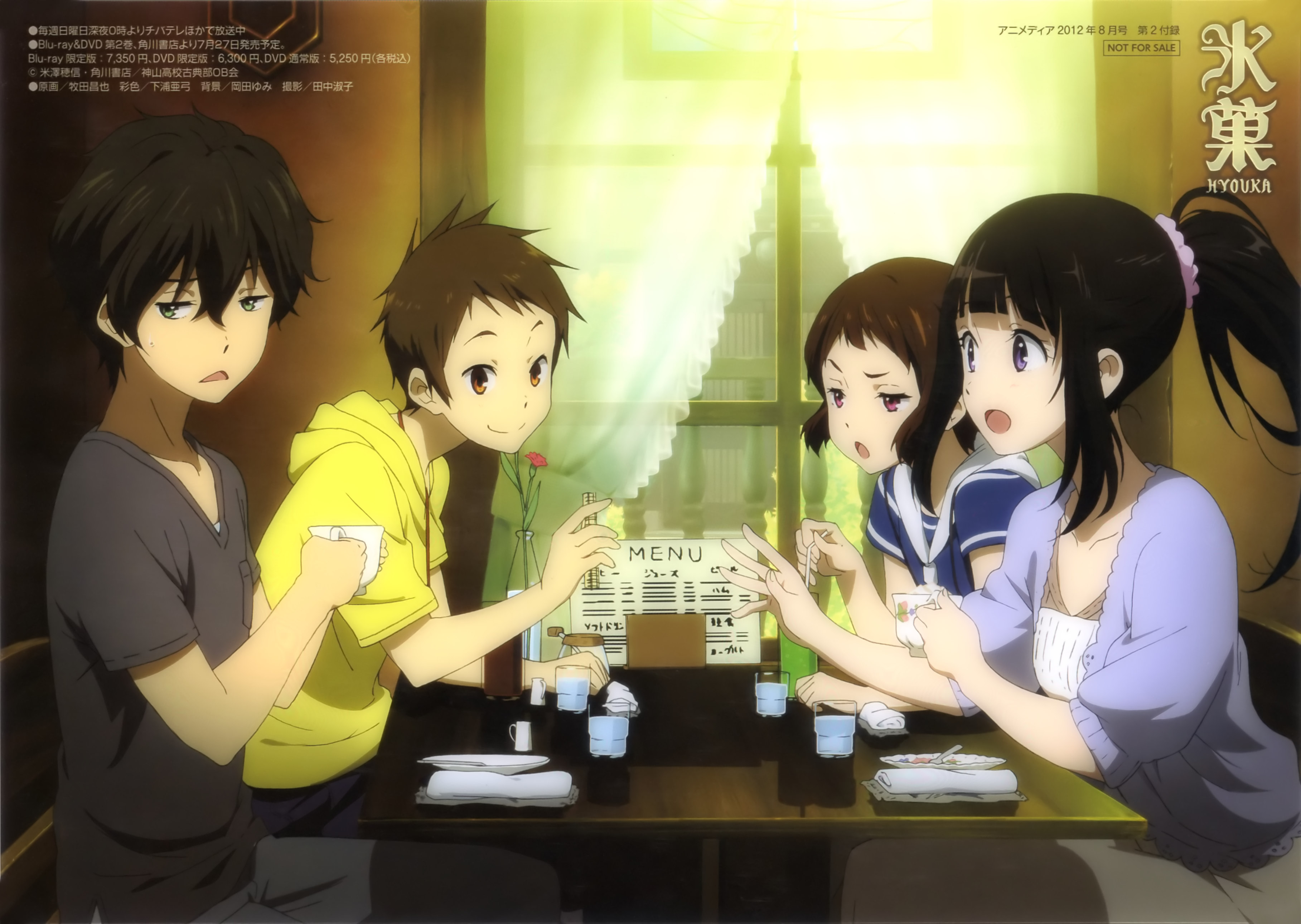 Picture Hyouka Young Man Girls Anime 3634x2581