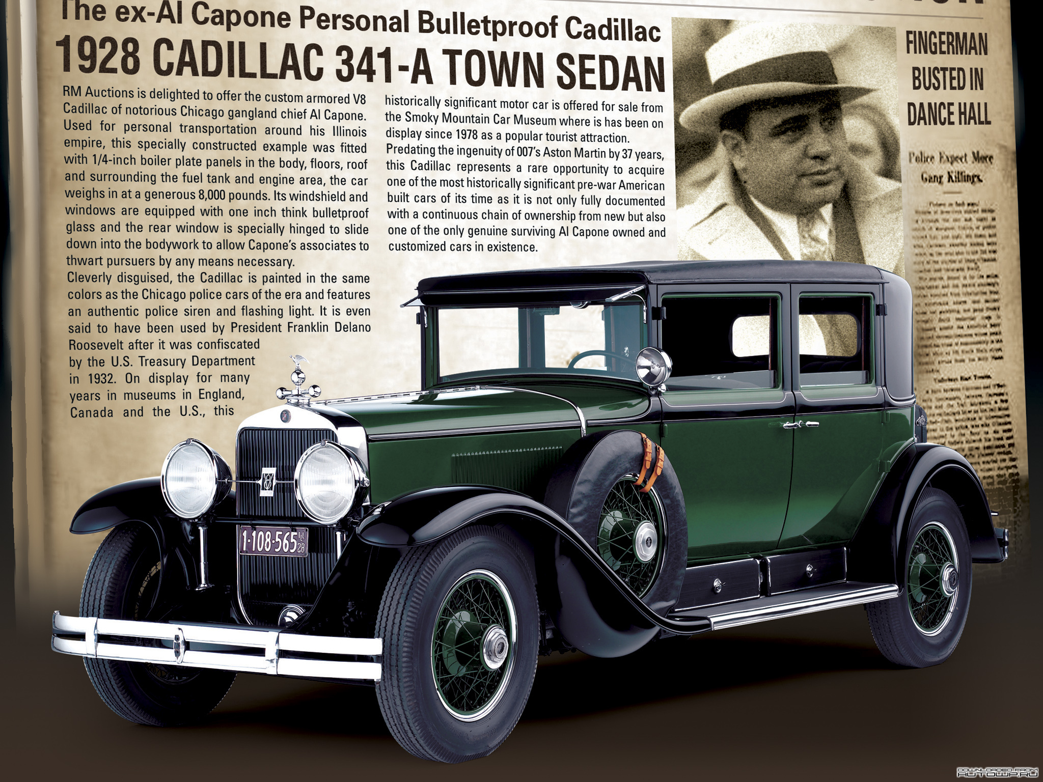 Images Cadillac V8 341-A Town Sedan Armored 1928 auto 2048x1536