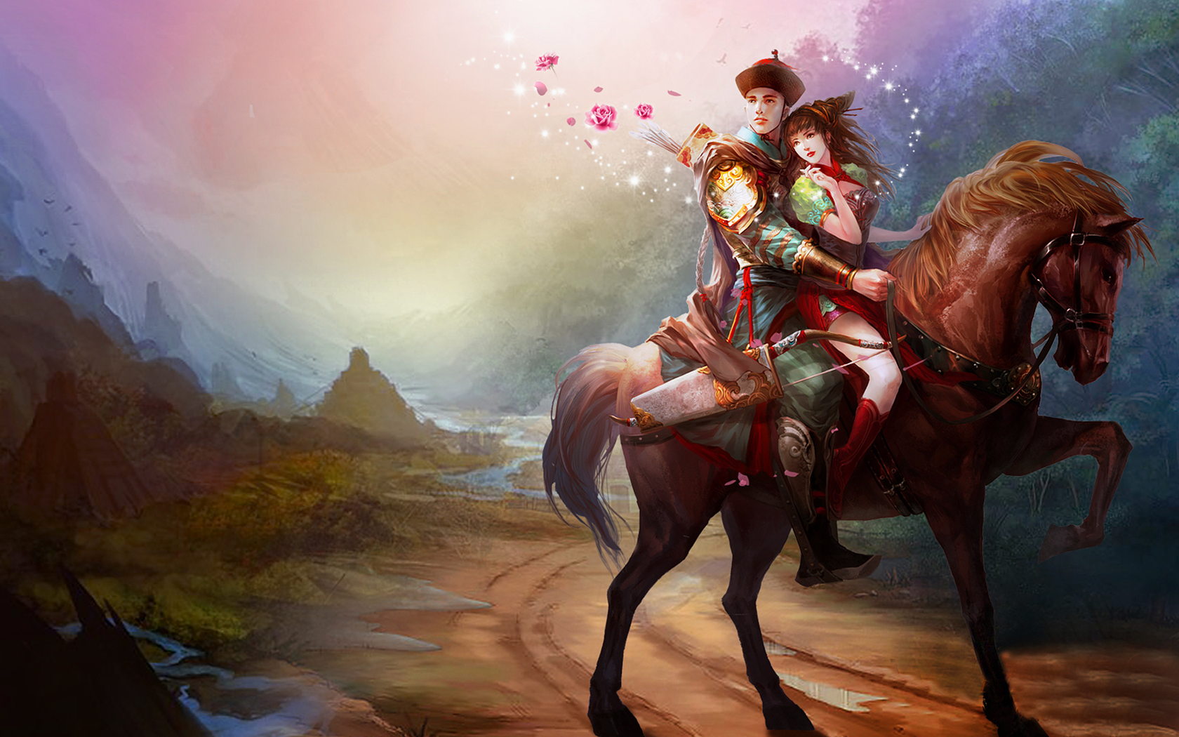pictures lovers love fantasy 1680x1050