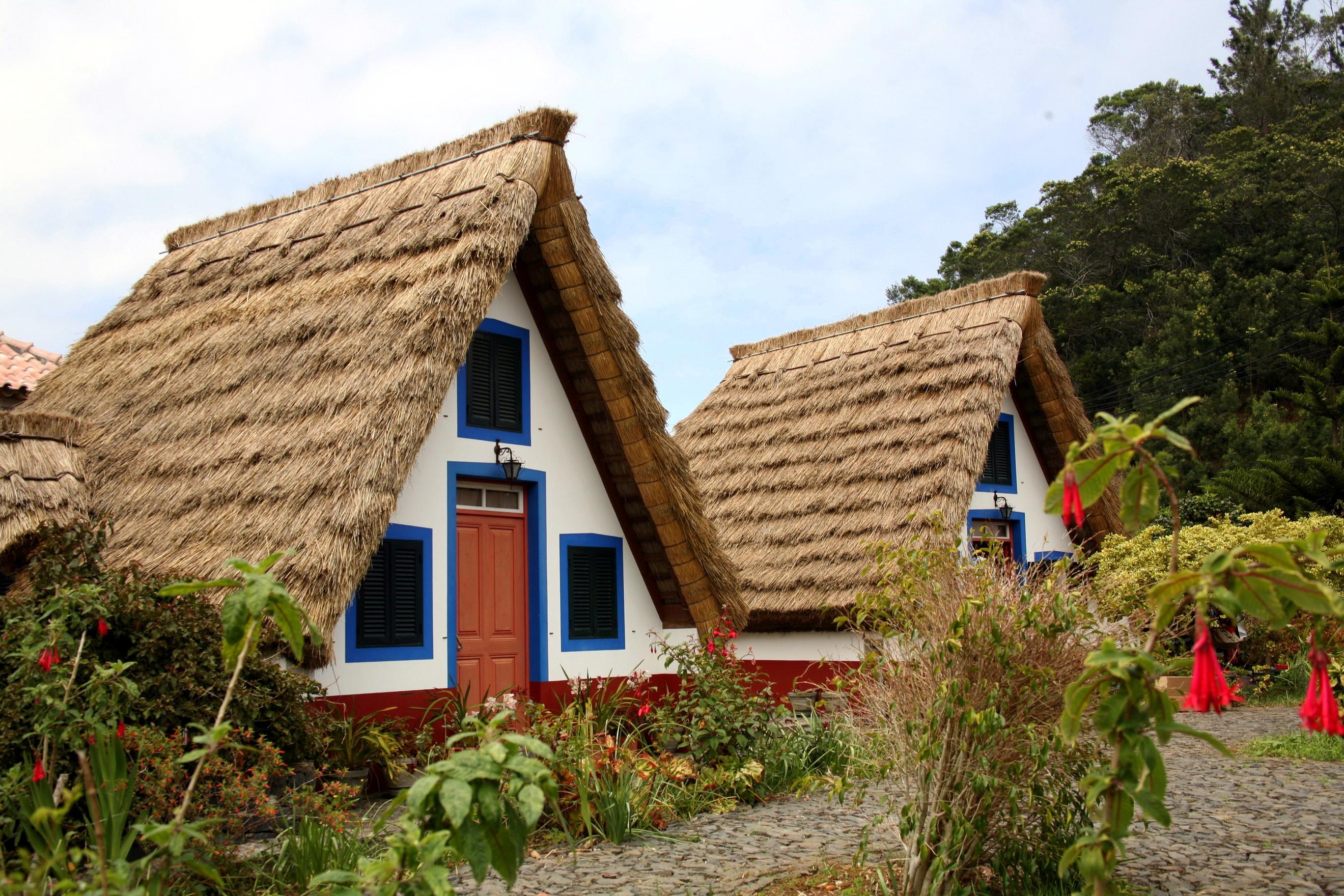 Hintergrundbilder portugal madeira santana haus st dte for Haus auf madeira