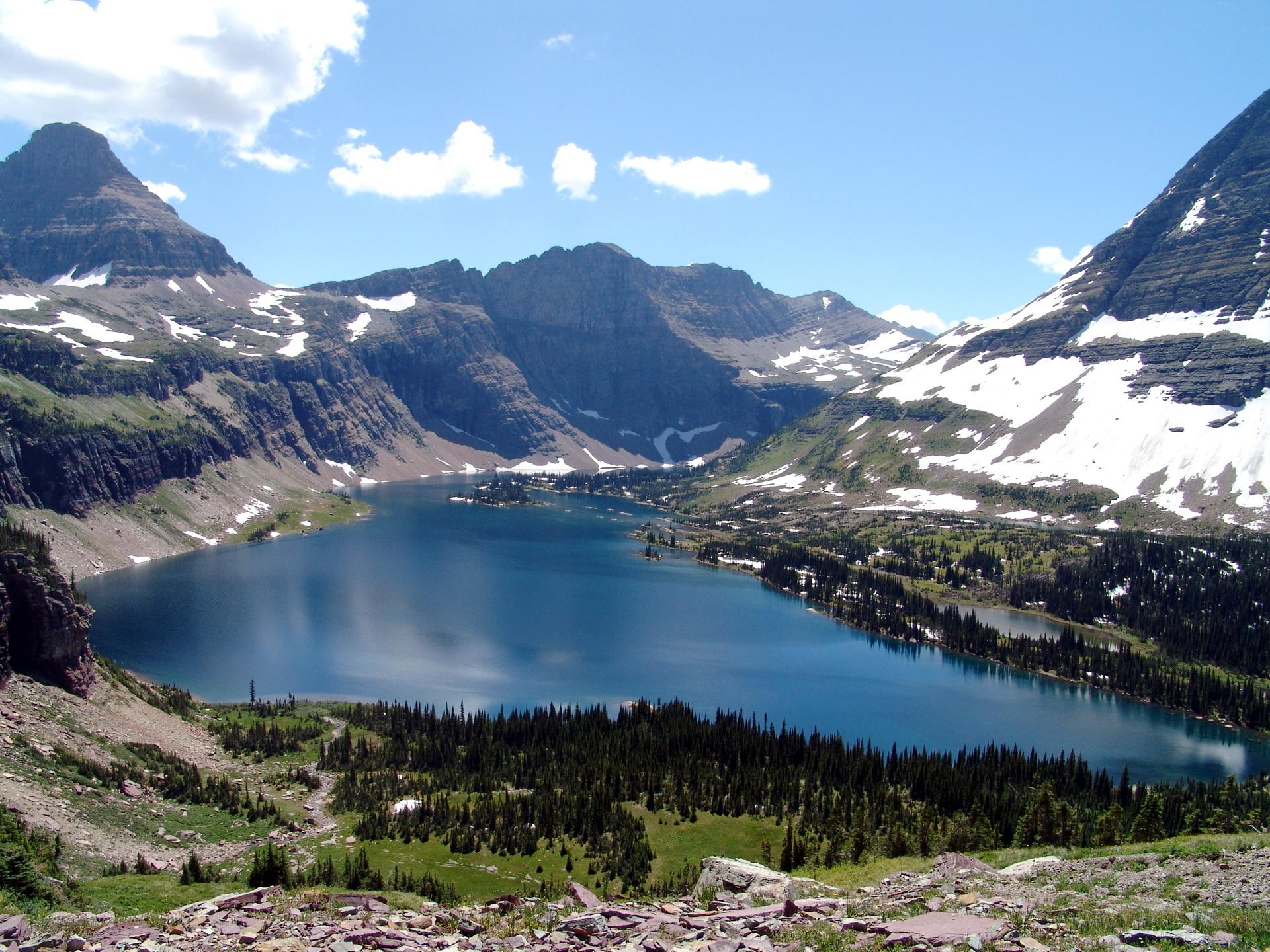 Picture Glacier National Park Usa Montana Hidden Lake