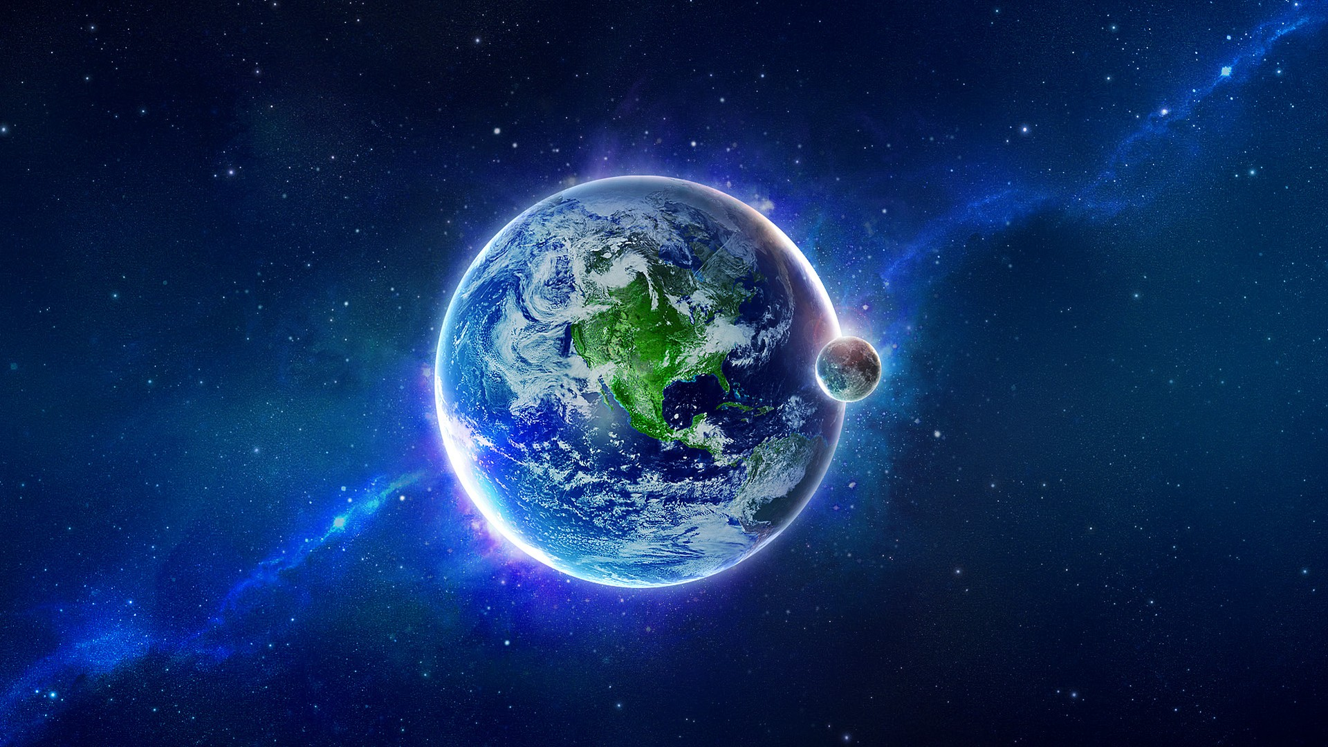 Wallpaper Earth Planets Space 1920x1080