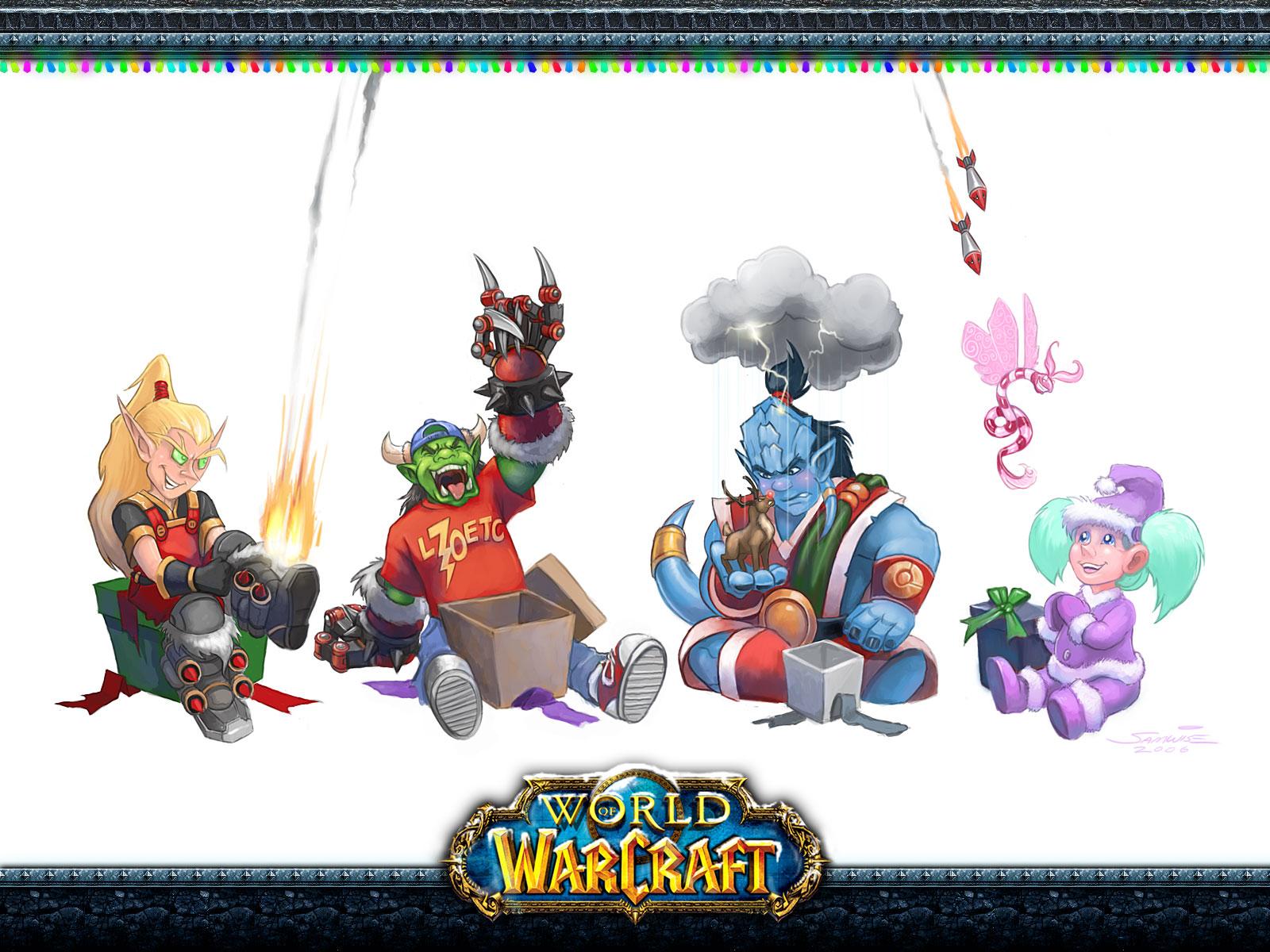 1600 x 1200 - World Of Warcraft Christmas