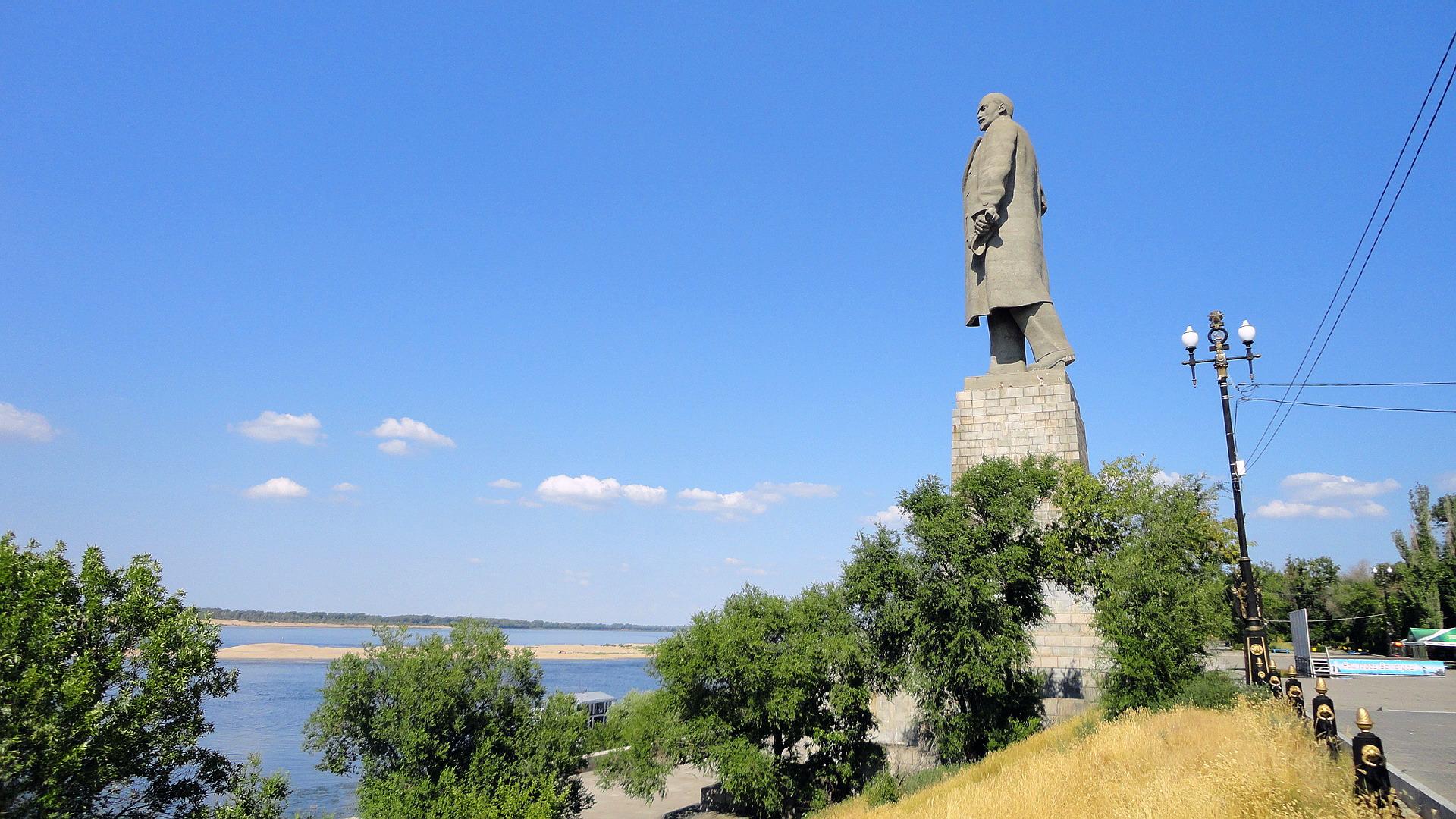 Фотография Волгоград Памятники Ленину город Города