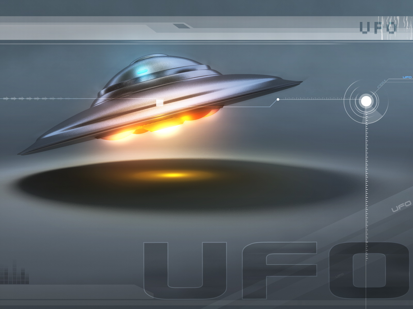 wallpaper ufo 3d graphics