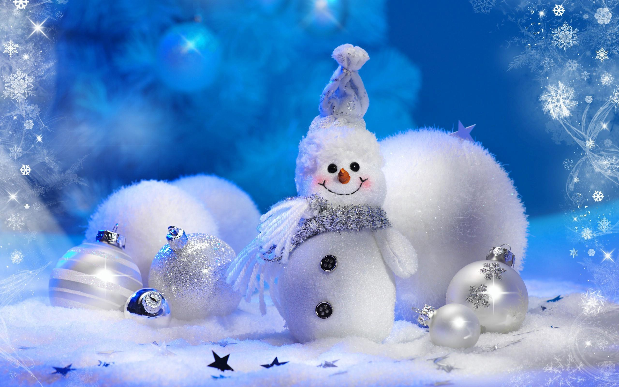 Picture New year Snowmen Holidays Christmas Snowman